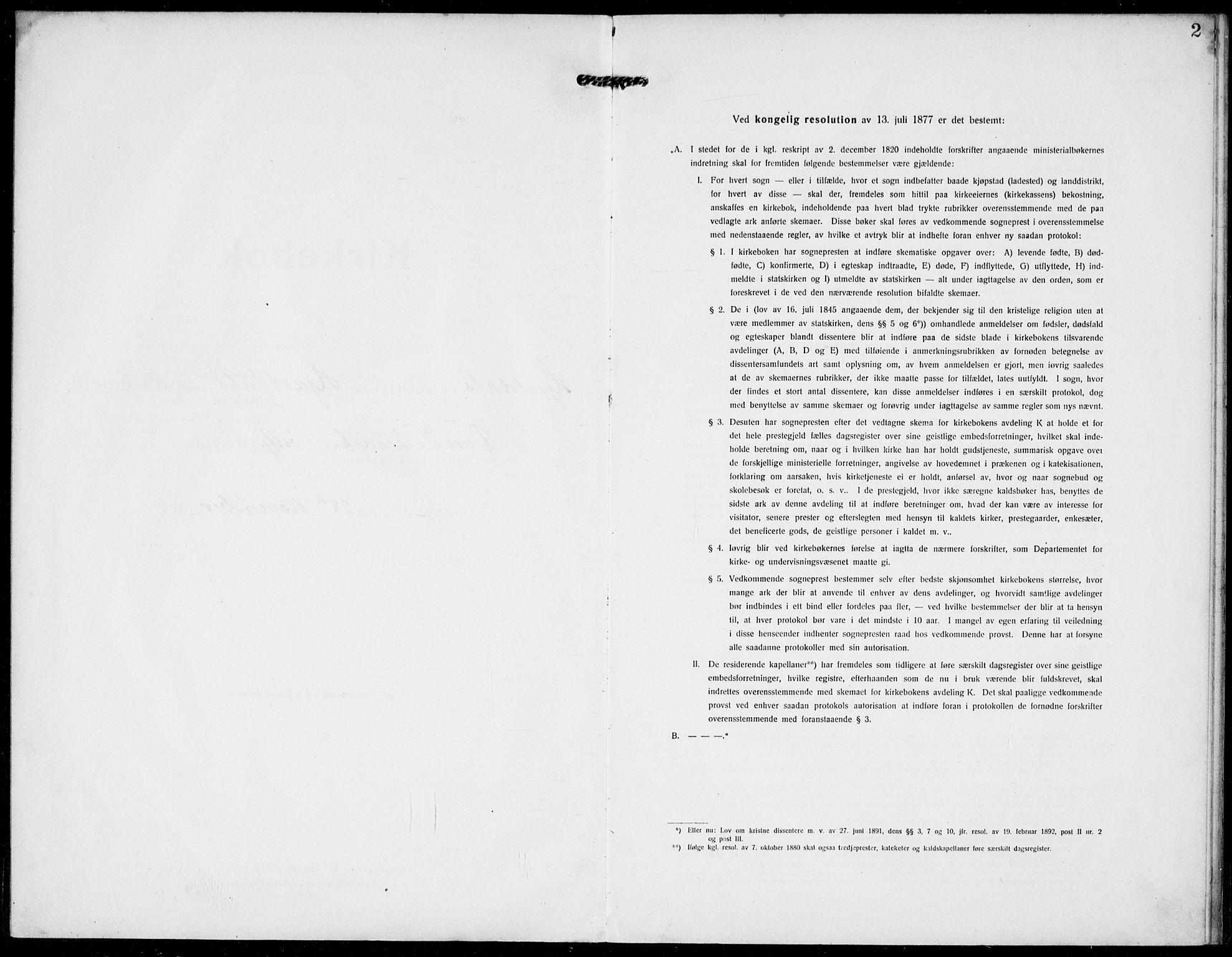 SAKO, Hjartdal kirkebøker, F/Fa/L0011: Parish register (official) no. I 11, 1916-1929, p. 2