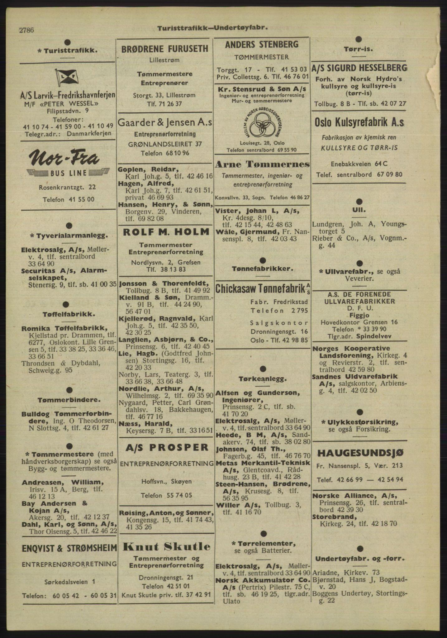 PUBL, Kristiania/Oslo adressebok, 1955, p. 2786