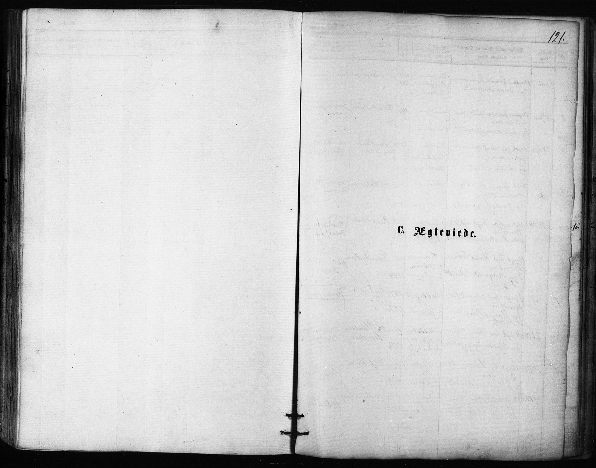 SATØ, Balsfjord sokneprestembete, Parish register (official) no. 2, 1871-1886, p. 121