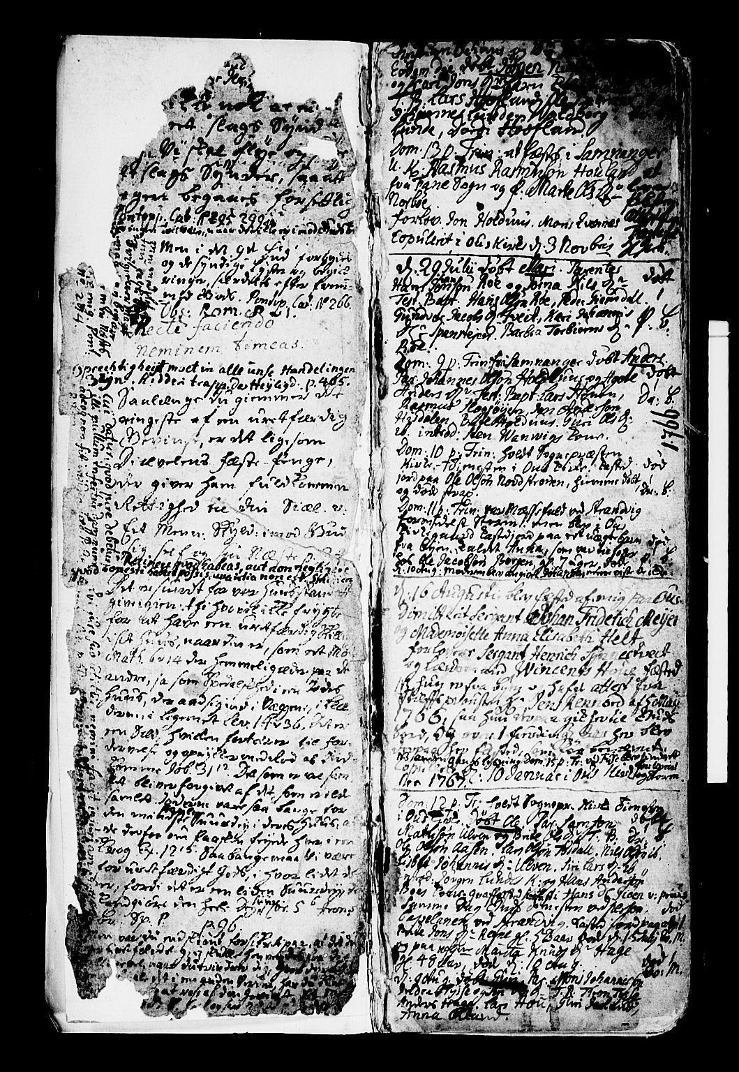 SAB, Os sokneprestembete*, Parish register (official) no. A 9, 1766-1779, p. 2