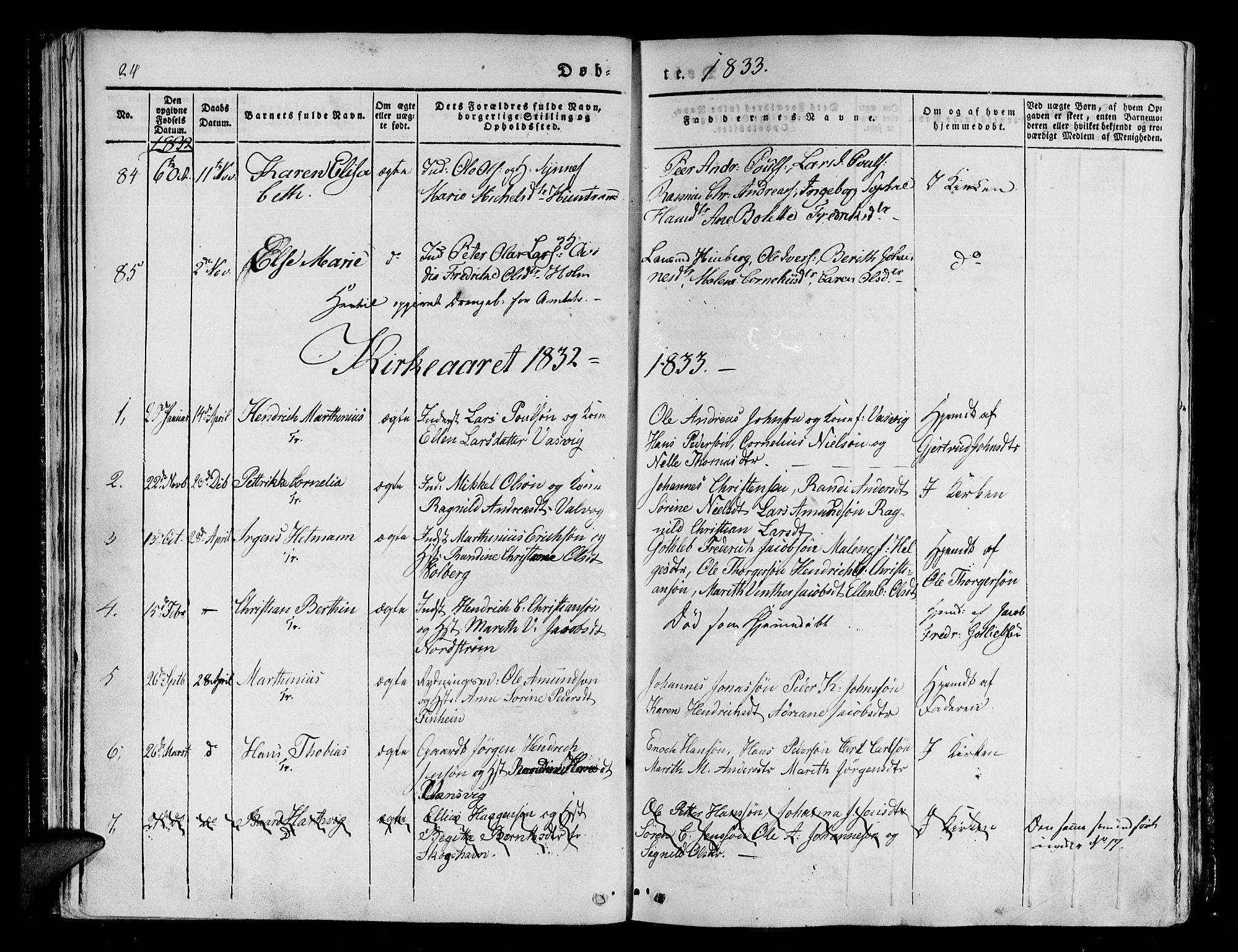 SATØ, Tranøy sokneprestkontor, I/Ia/Iaa/L0005kirke: Parish register (official) no. 5, 1829-1844, p. 24