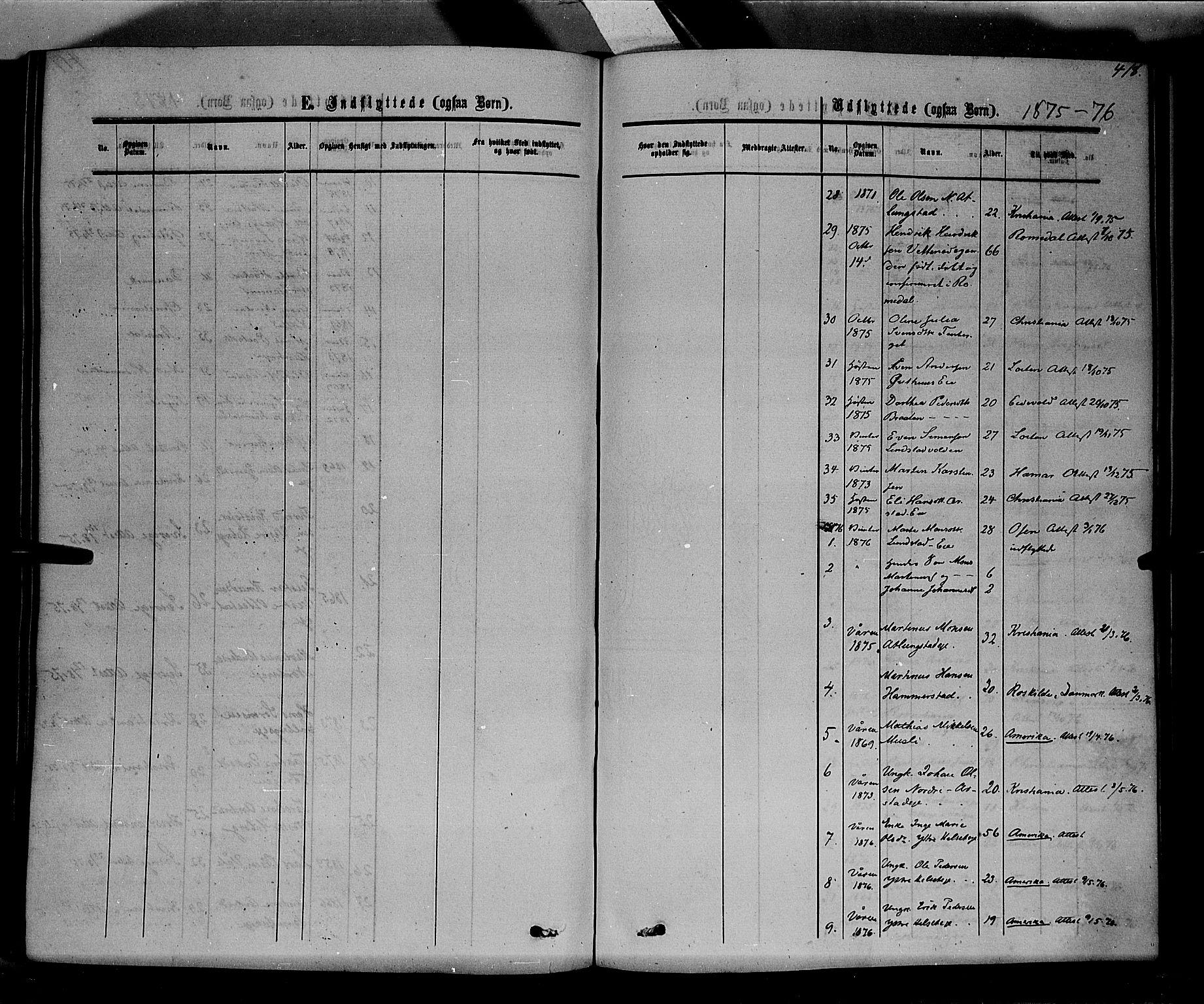 SAH, Stange prestekontor, K/L0013: Parish register (official) no. 13, 1862-1879, p. 418