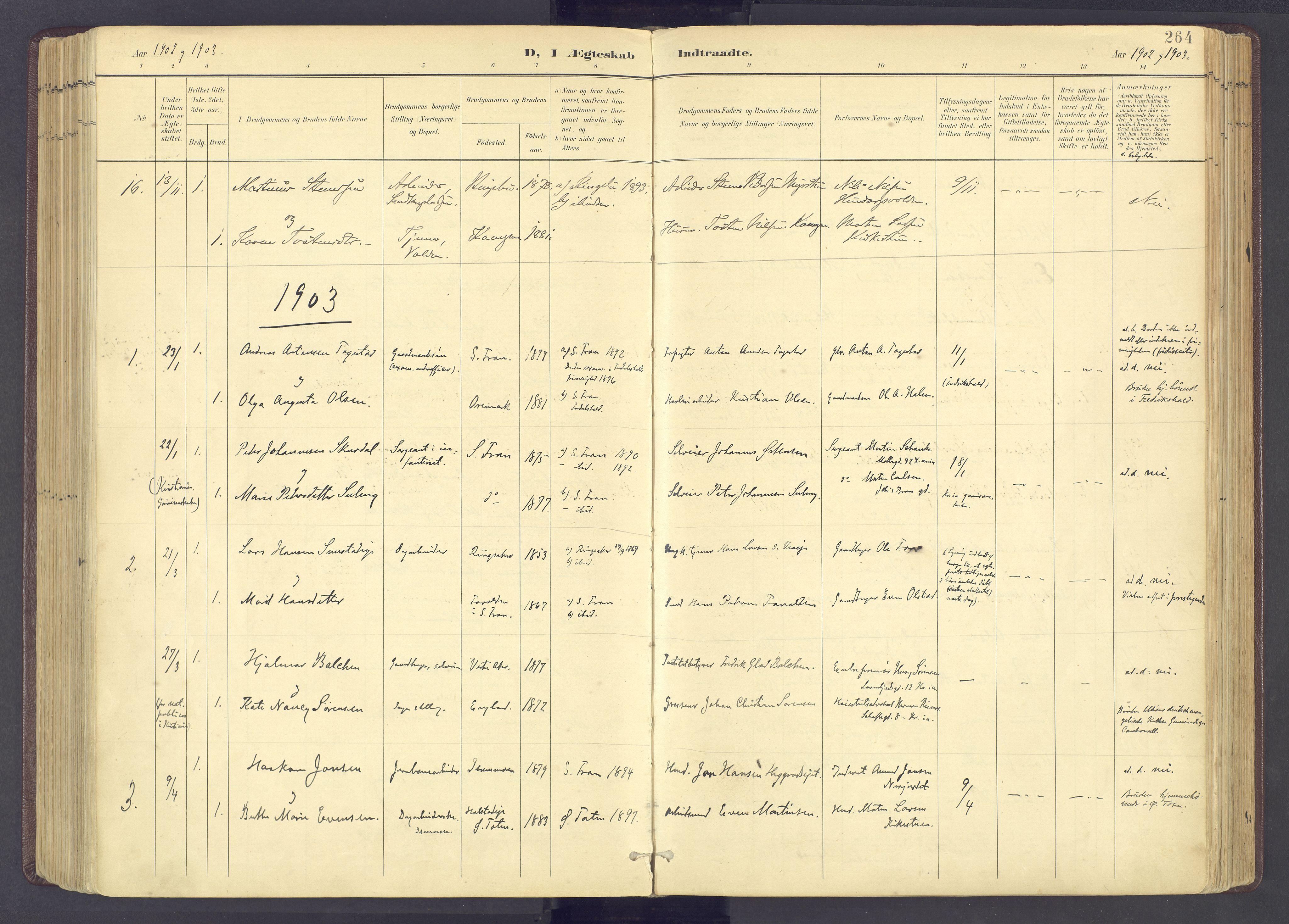 SAH, Sør-Fron prestekontor, H/Ha/Haa/L0004: Parish register (official) no. 4, 1898-1919, p. 264