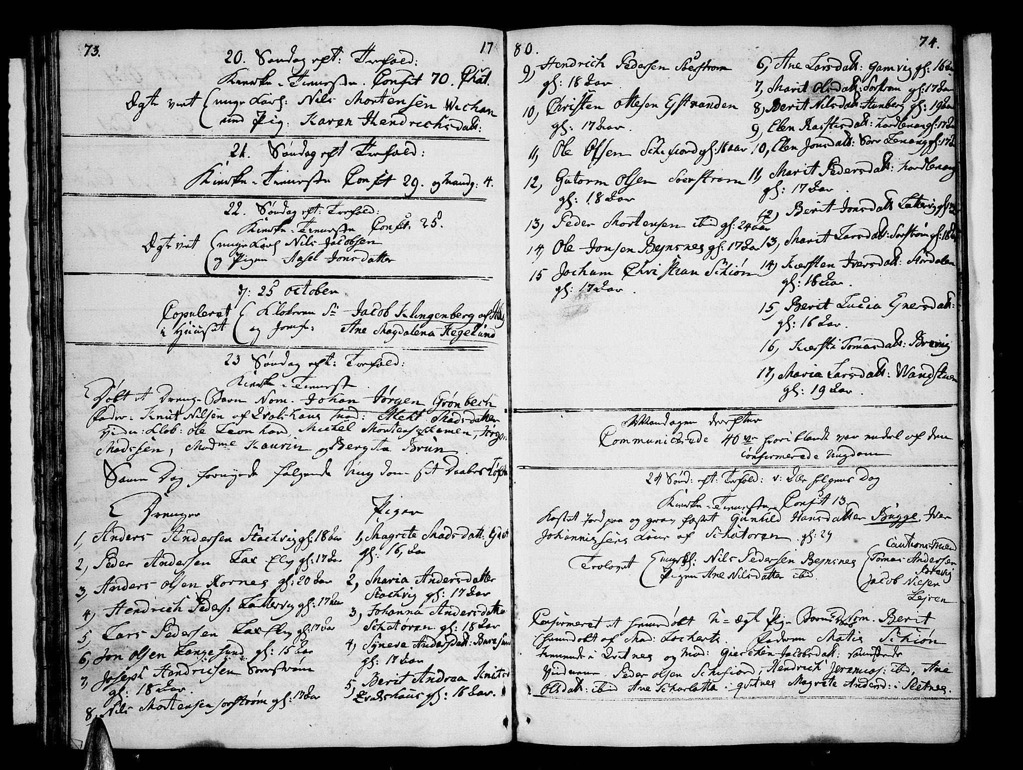 SATØ, Karlsøy sokneprestembete, Parish register (official) no. 1, 1775-1823, p. 73-74