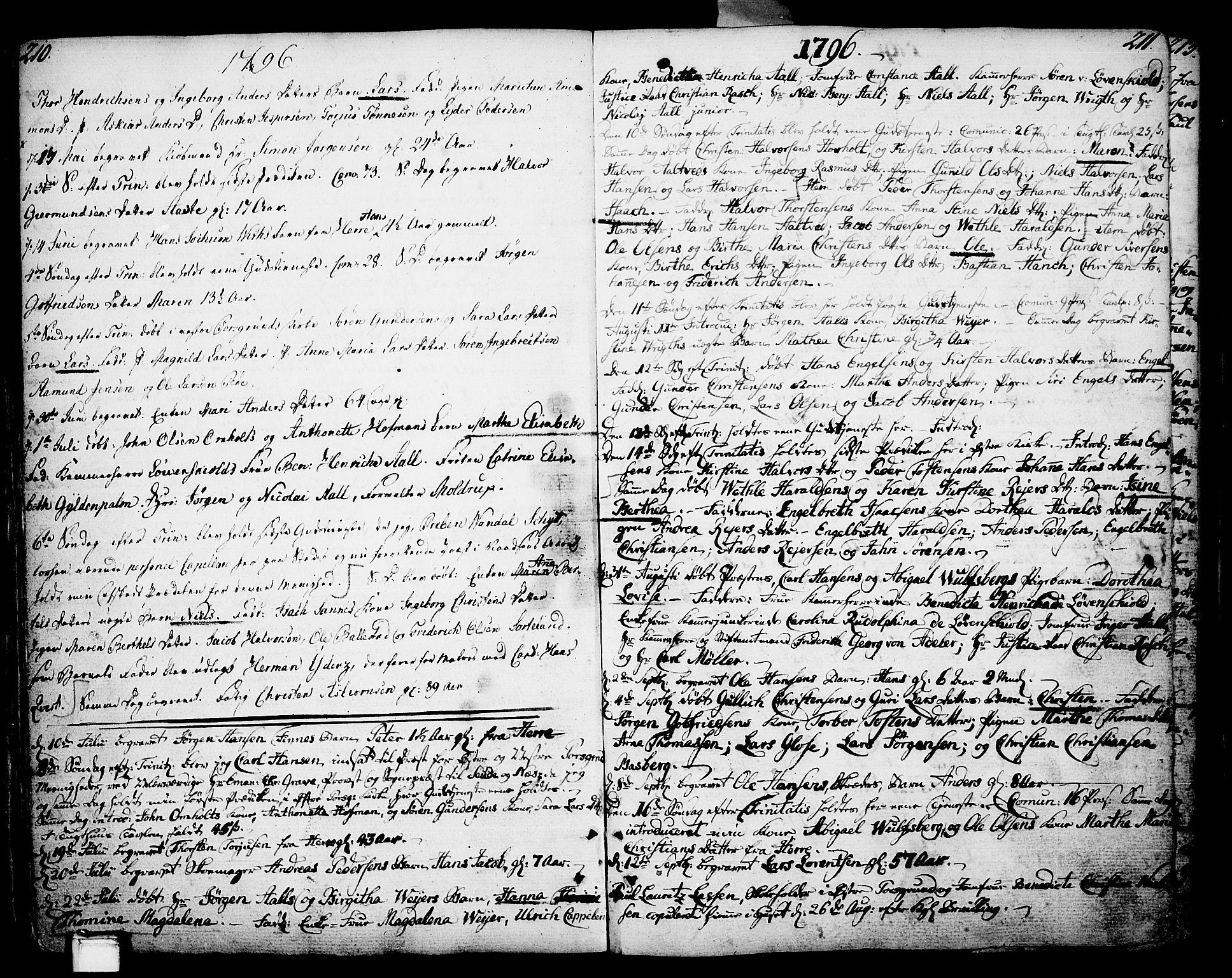 SAKO, Porsgrunn kirkebøker , F/Fa/L0002: Parish register (official) no. 2, 1764-1814, p. 210-211