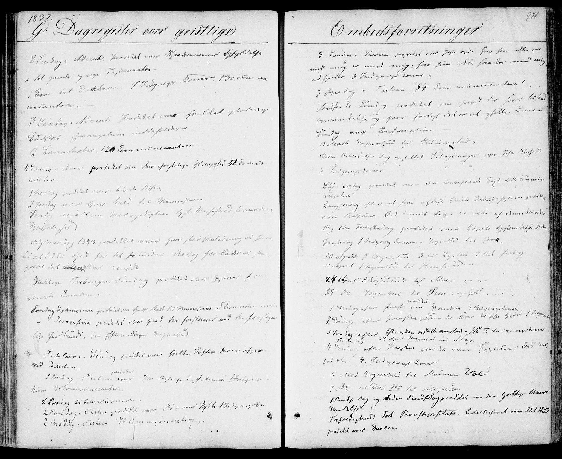 SAKO, Sandar kirkebøker, F/Fa/L0005: Parish register (official) no. 5, 1832-1847, p. 970-971