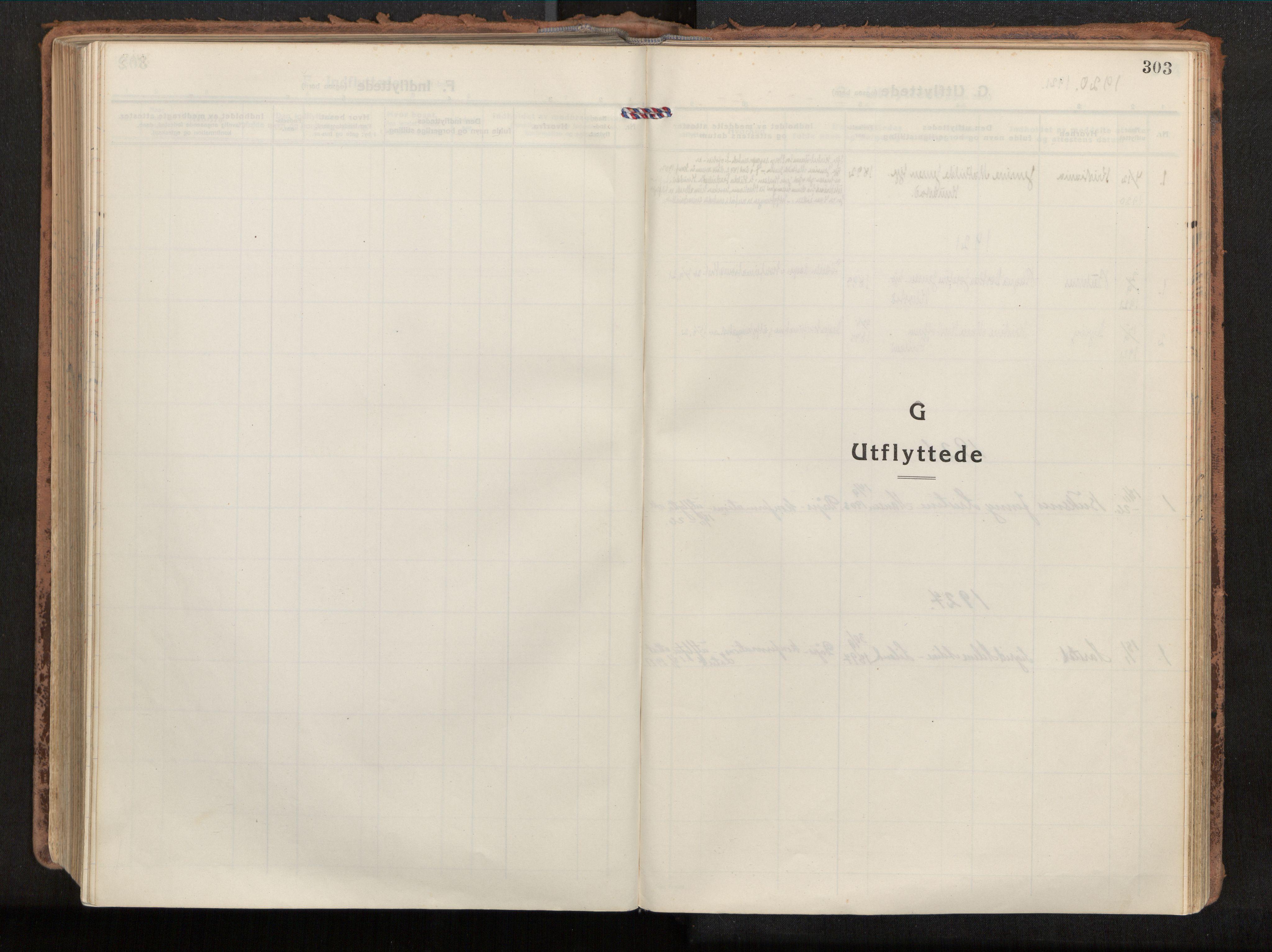 SAT, Ministerialprotokoller, klokkerbøker og fødselsregistre - Nordland, 880/L1136: Parish register (official) no. 880A10, 1919-1927, p. 303
