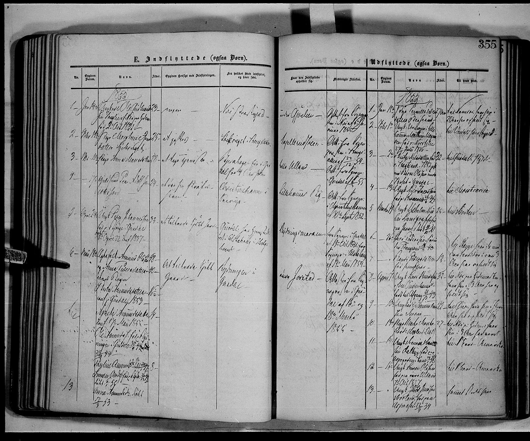 SAH, Fåberg prestekontor, Parish register (official) no. 6B, 1855-1867, p. 355