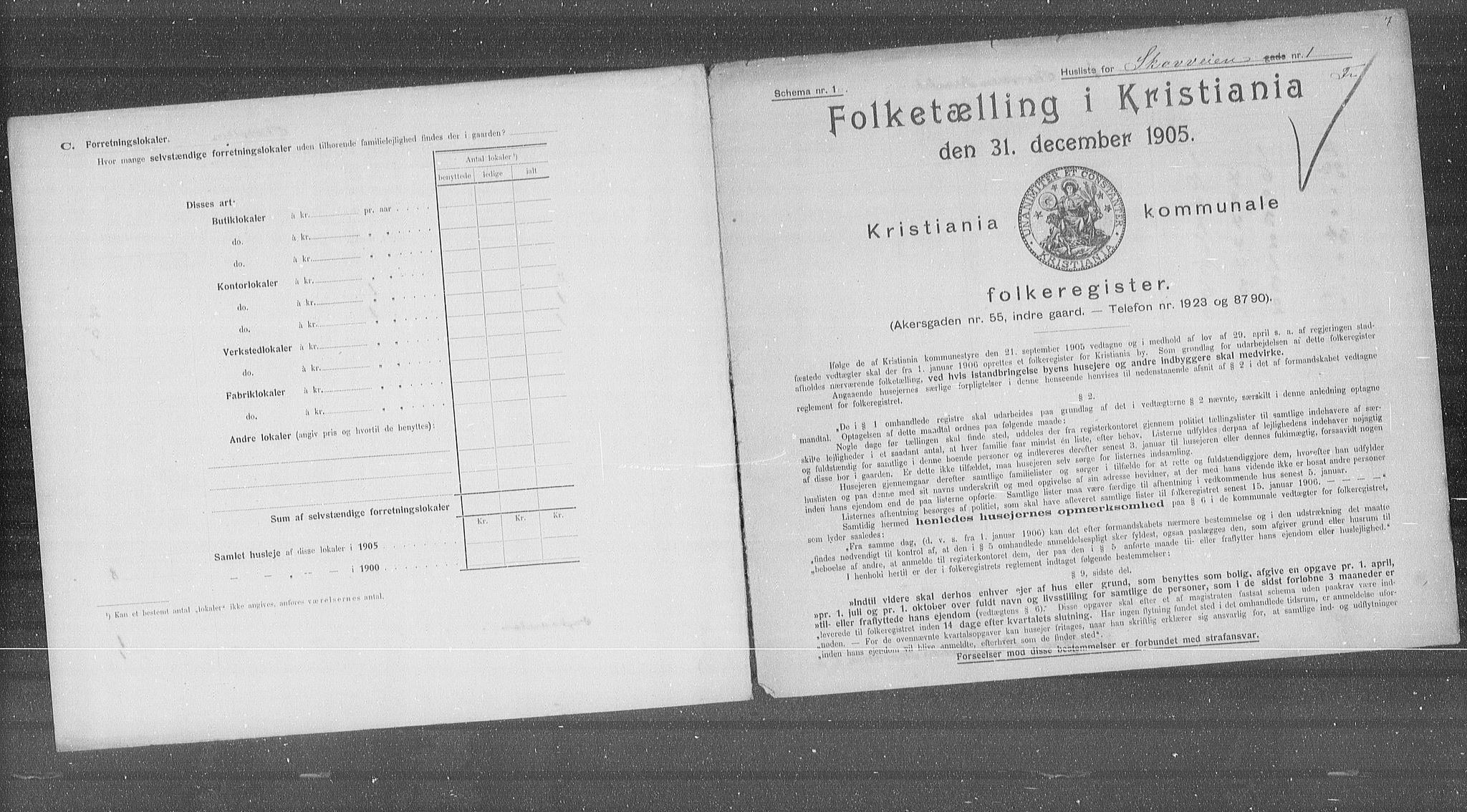 OBA, Municipal Census 1905 for Kristiania, 1905, p. 49995