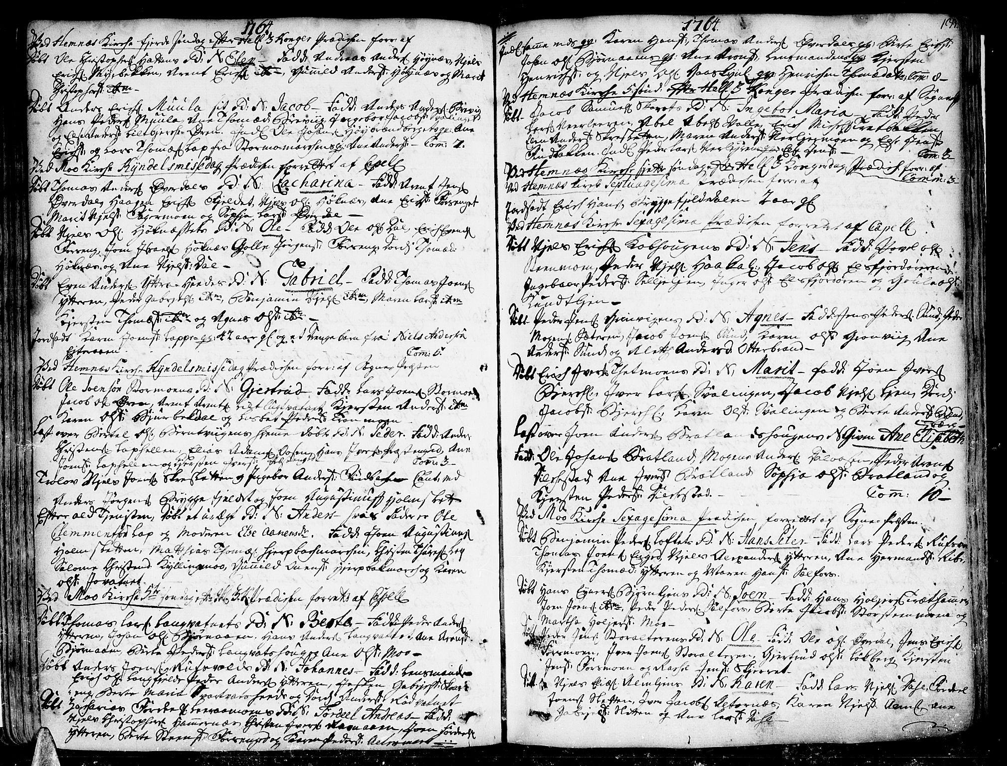 SAT, Ministerialprotokoller, klokkerbøker og fødselsregistre - Nordland, 825/L0348: Parish register (official) no. 825A04, 1752-1788, p. 133