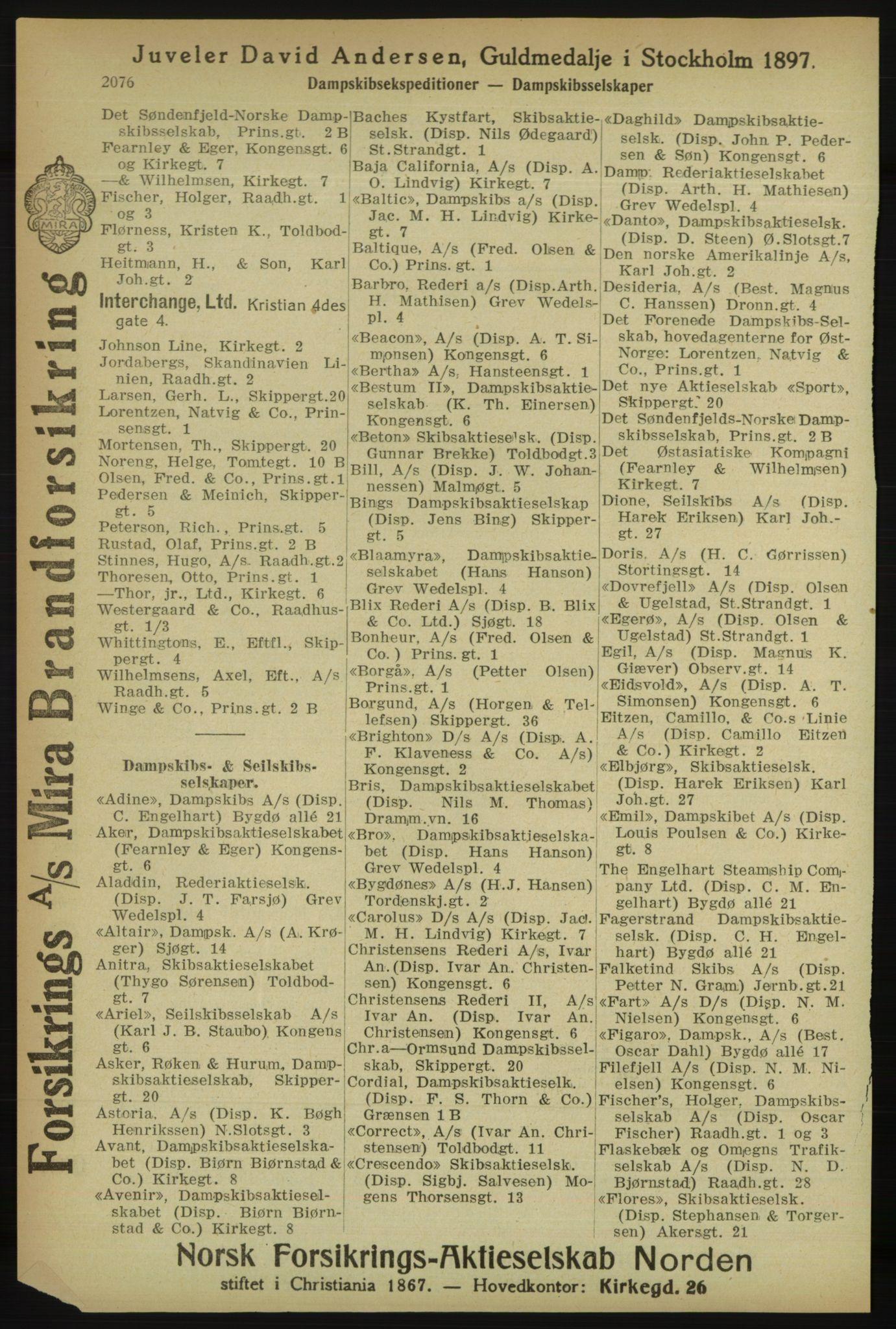 PUBL, Kristiania/Oslo adressebok, 1918, p. 2229