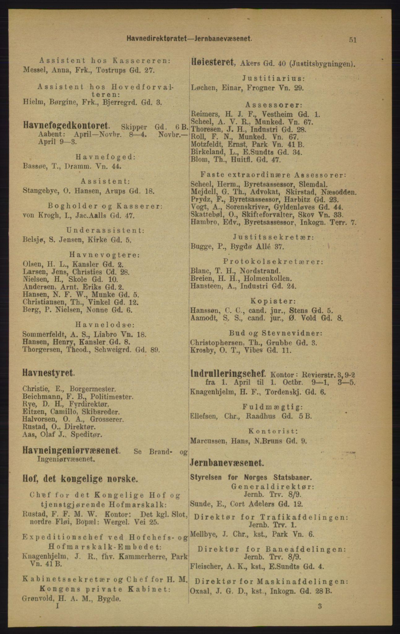 PUBL, Kristiania/Oslo adressebok, 1906, p. 51