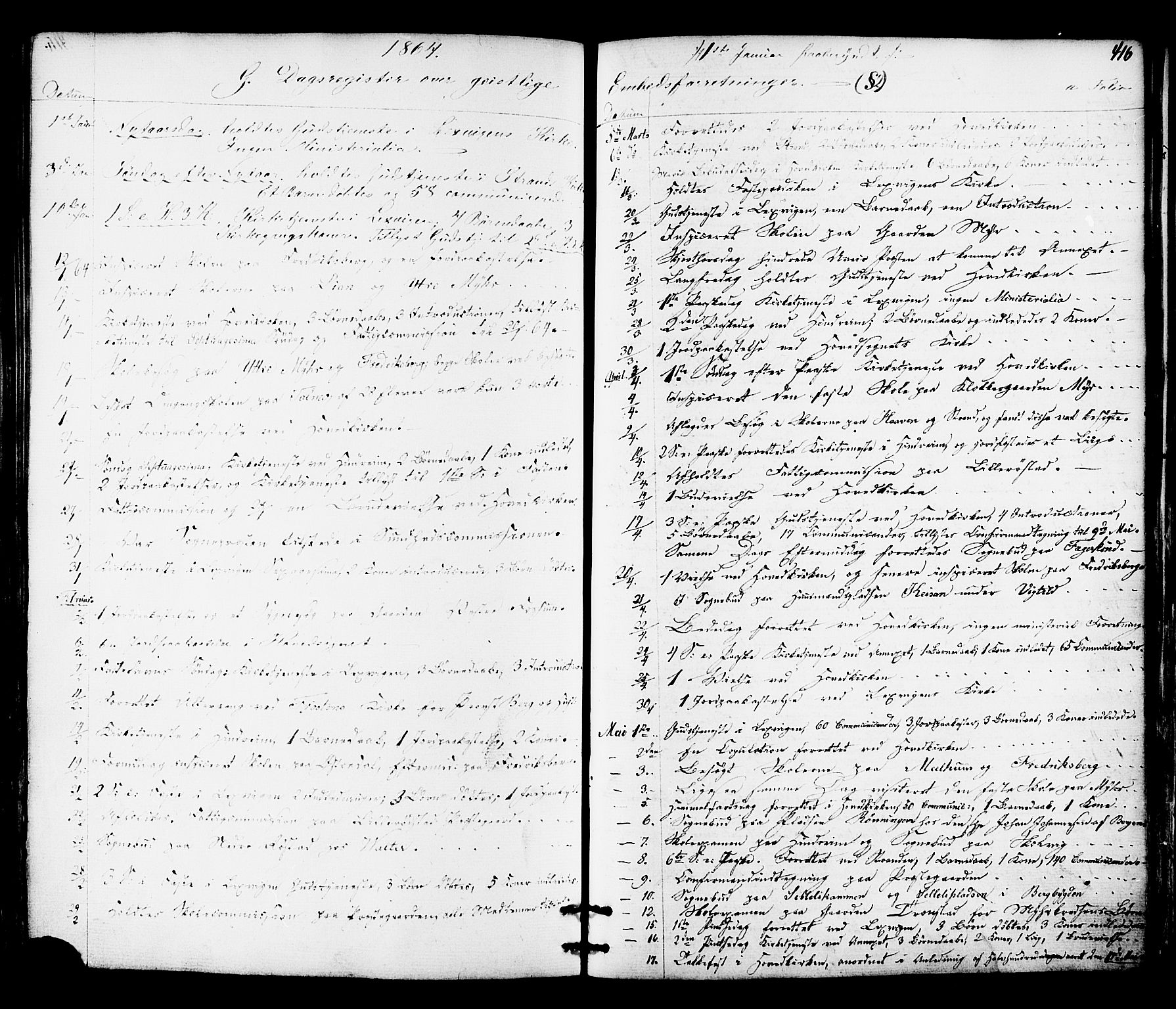 SAT, Ministerialprotokoller, klokkerbøker og fødselsregistre - Nord-Trøndelag, 701/L0009: Parish register (official) no. 701A09 /1, 1864-1882, p. 416
