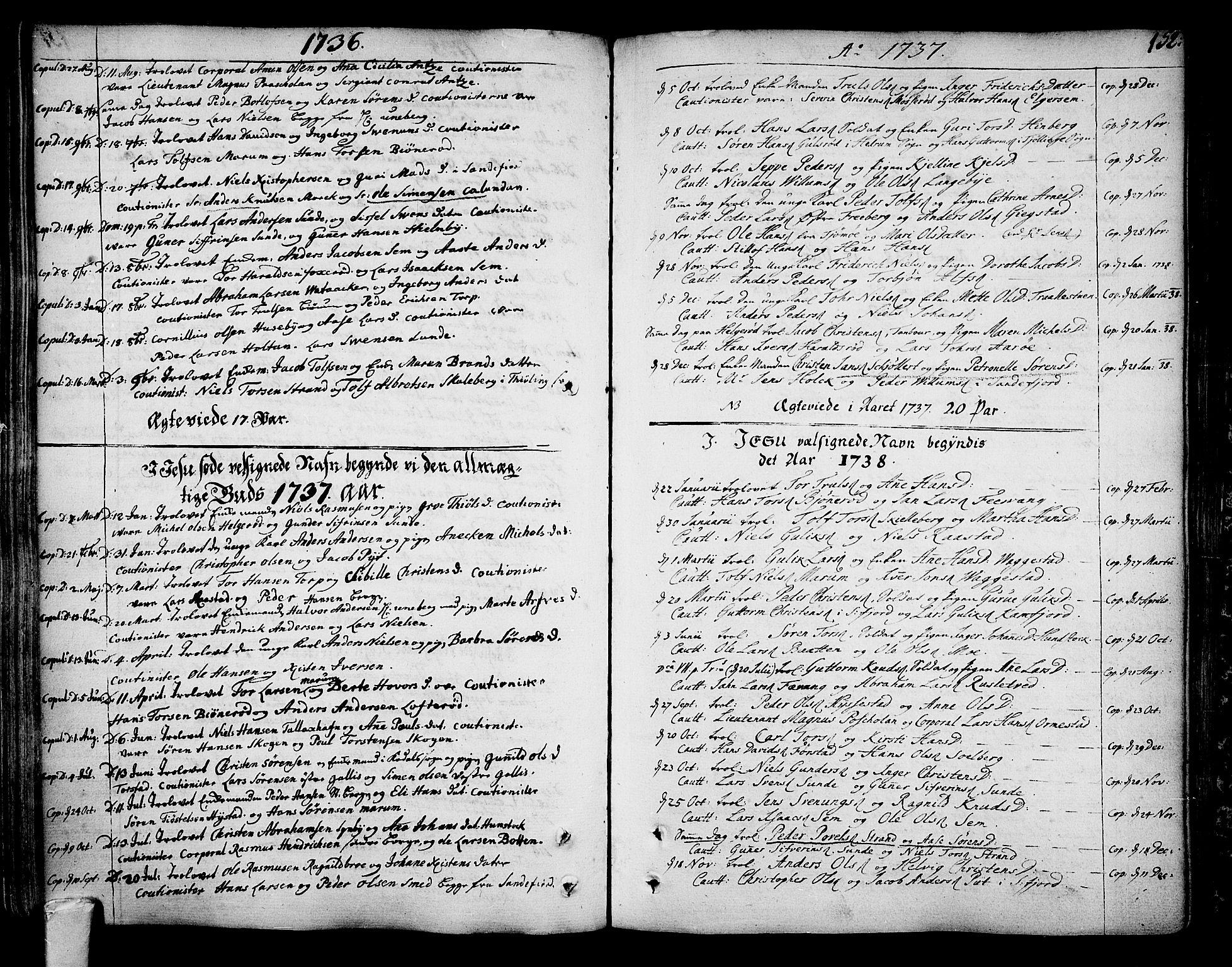 SAKO, Sandar kirkebøker, F/Fa/L0002: Parish register (official) no. 2, 1733-1788, p. 152