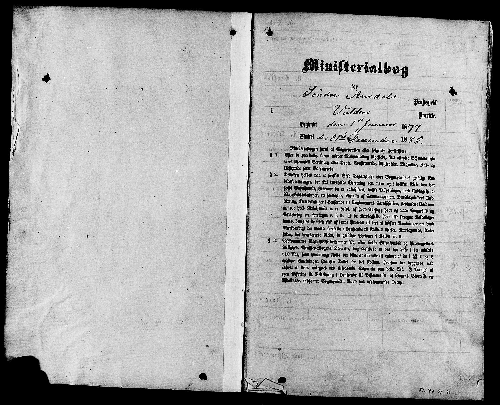 SAH, Sør-Aurdal prestekontor, Parish register (official) no. 8, 1877-1885
