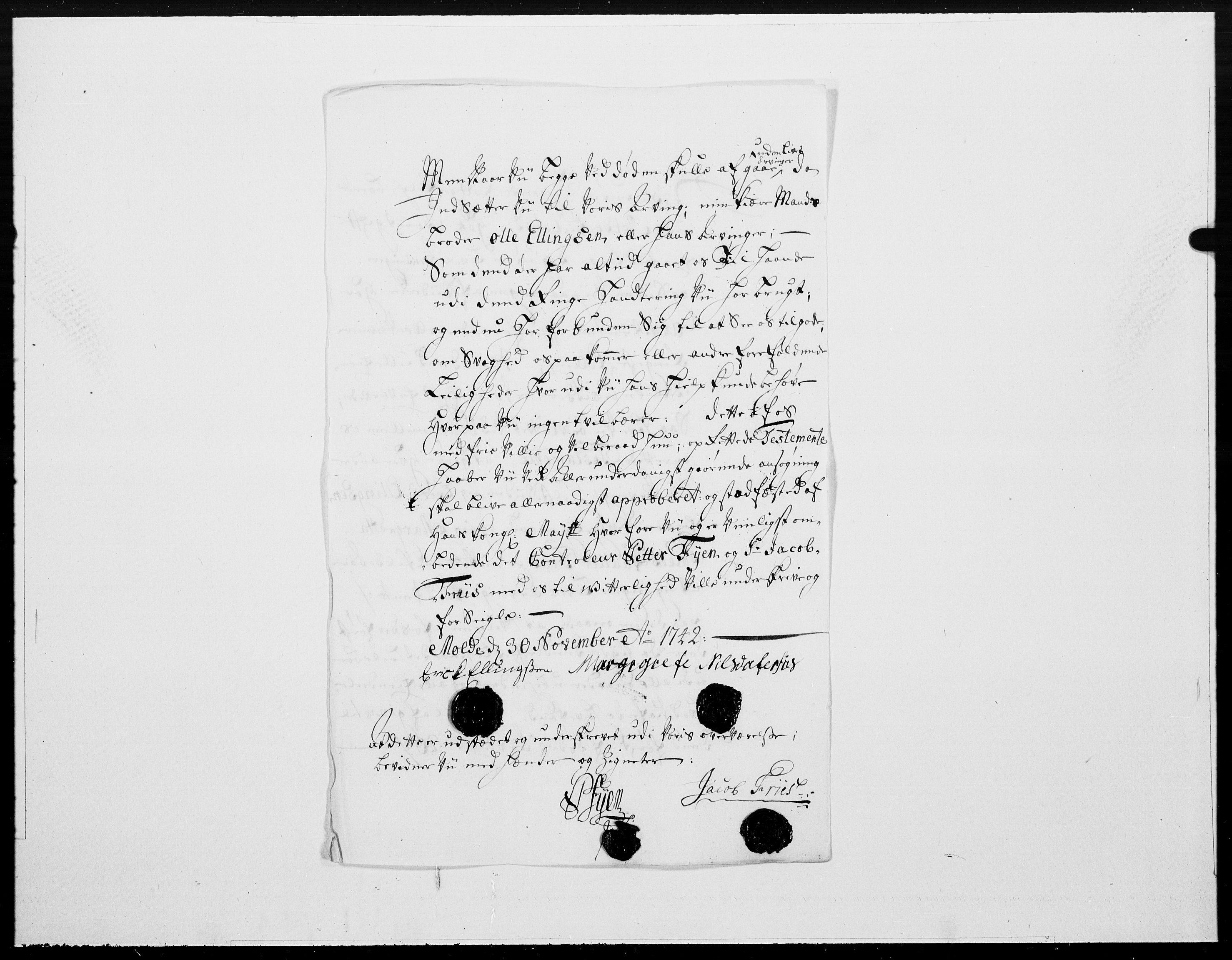 RA, Danske Kanselli 1572-1799, F/Fc/Fcc/Fcca/L0137: Norske innlegg 1572-1799, 1743, p. 30