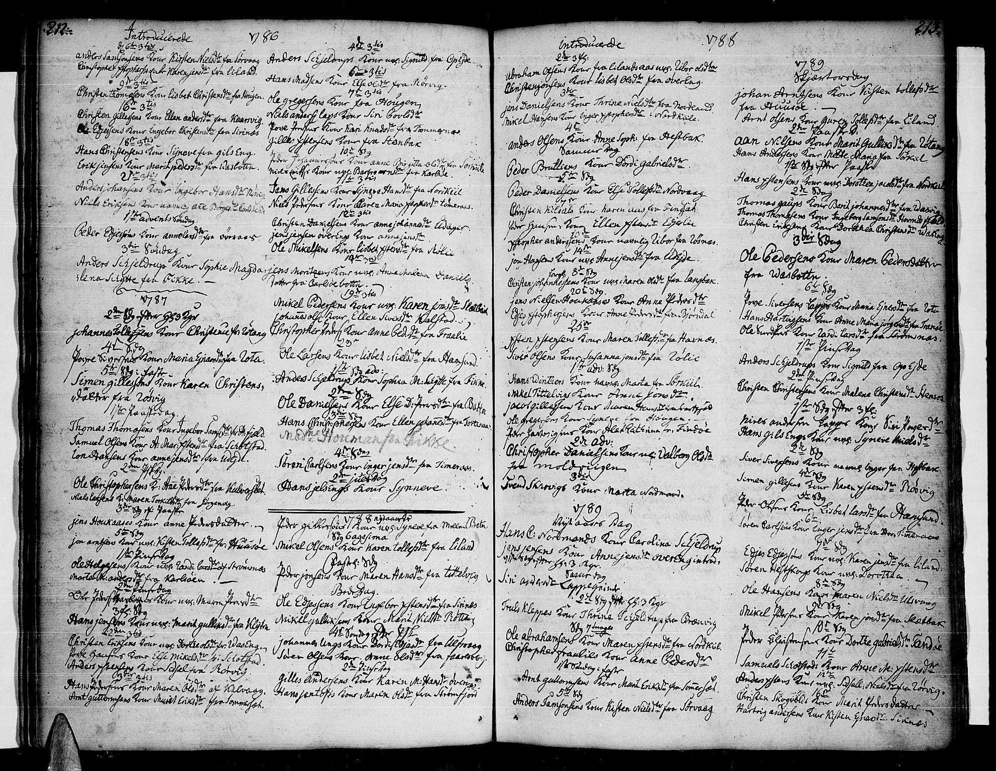 SAT, Ministerialprotokoller, klokkerbøker og fødselsregistre - Nordland, 859/L0841: Parish register (official) no. 859A01, 1766-1821, p. 212-213