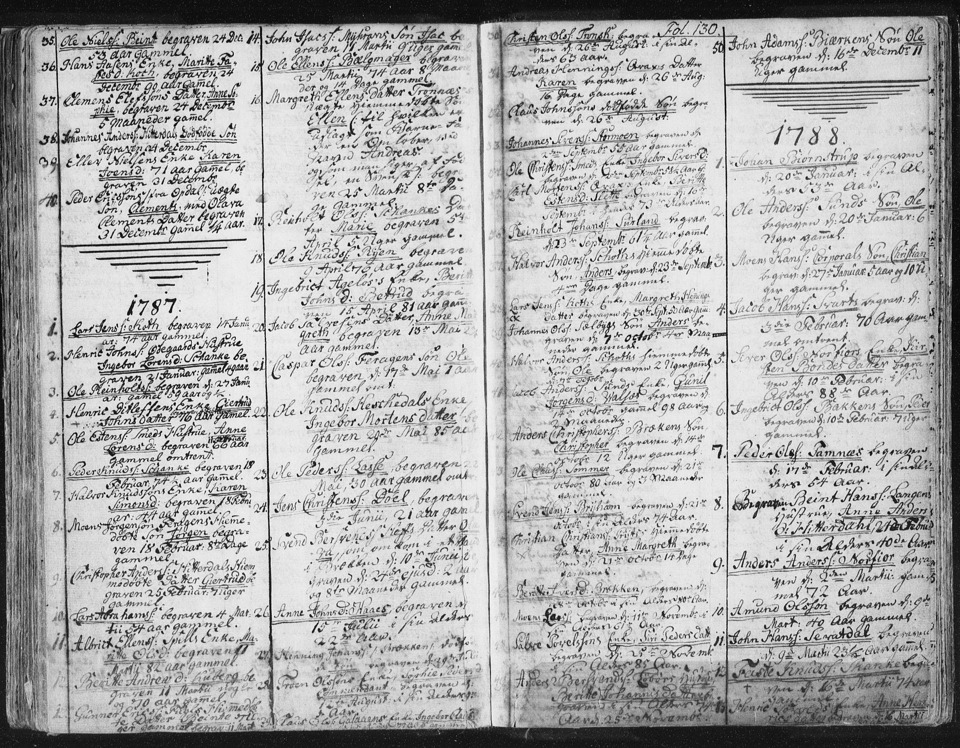 SAT, Ministerialprotokoller, klokkerbøker og fødselsregistre - Sør-Trøndelag, 681/L0926: Parish register (official) no. 681A04, 1767-1797, p. 130