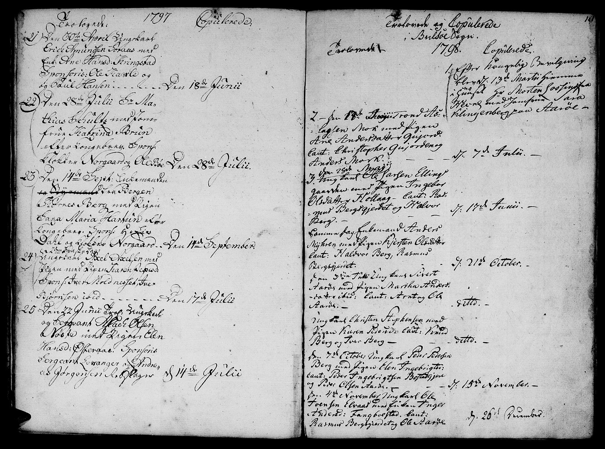SAT, Ministerialprotokoller, klokkerbøker og fødselsregistre - Møre og Romsdal, 555/L0649: Parish register (official) no. 555A02 /1, 1795-1821, p. 121