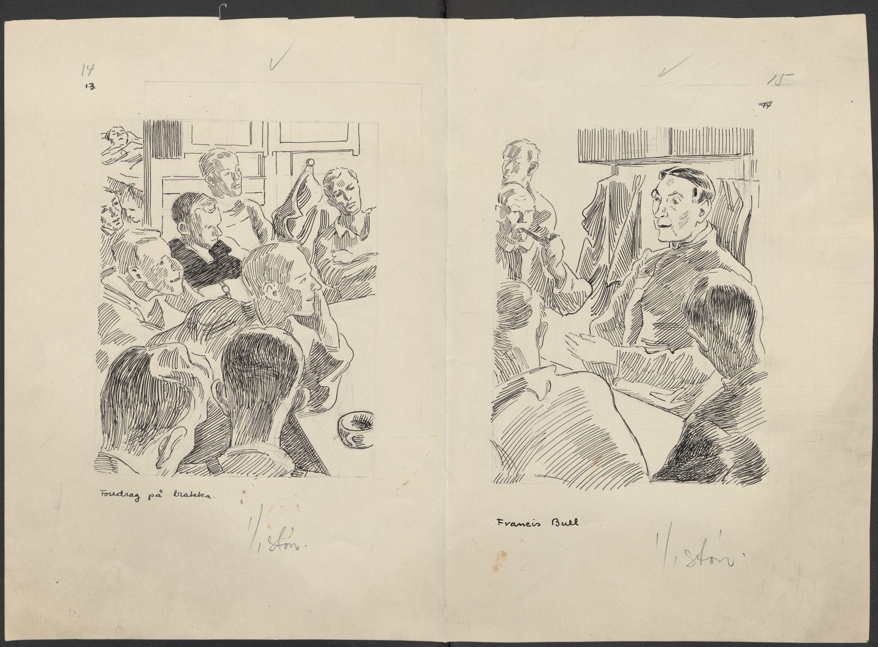 RA, Grøgaard, Joachim, F/L0002: Tegninger og tekster, 1942-1945, p. 102