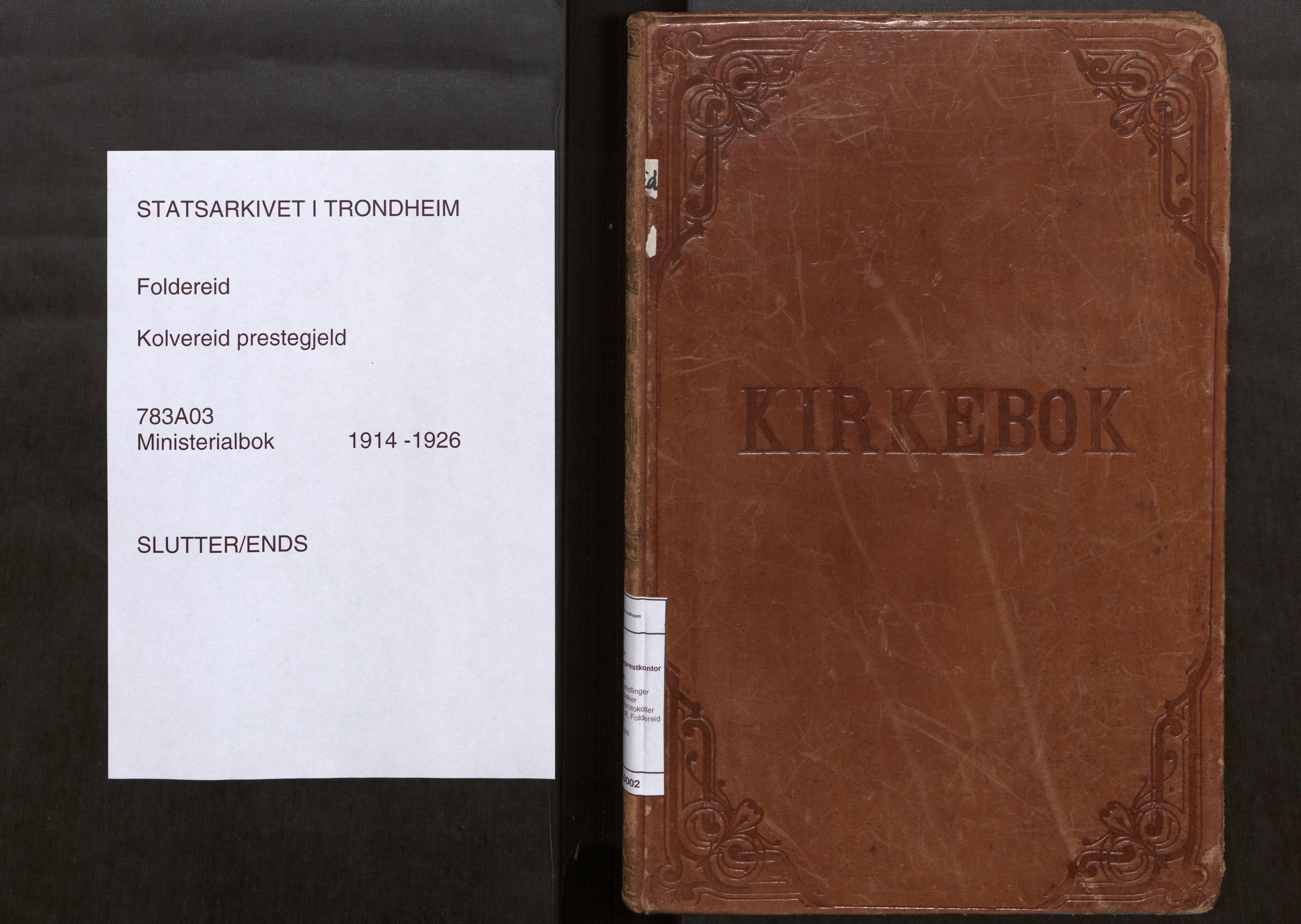 SAT, Kolvereid sokneprestkontor, H/Ha/Haa/L0002: Parish register (official) no. 2, 1914-1926