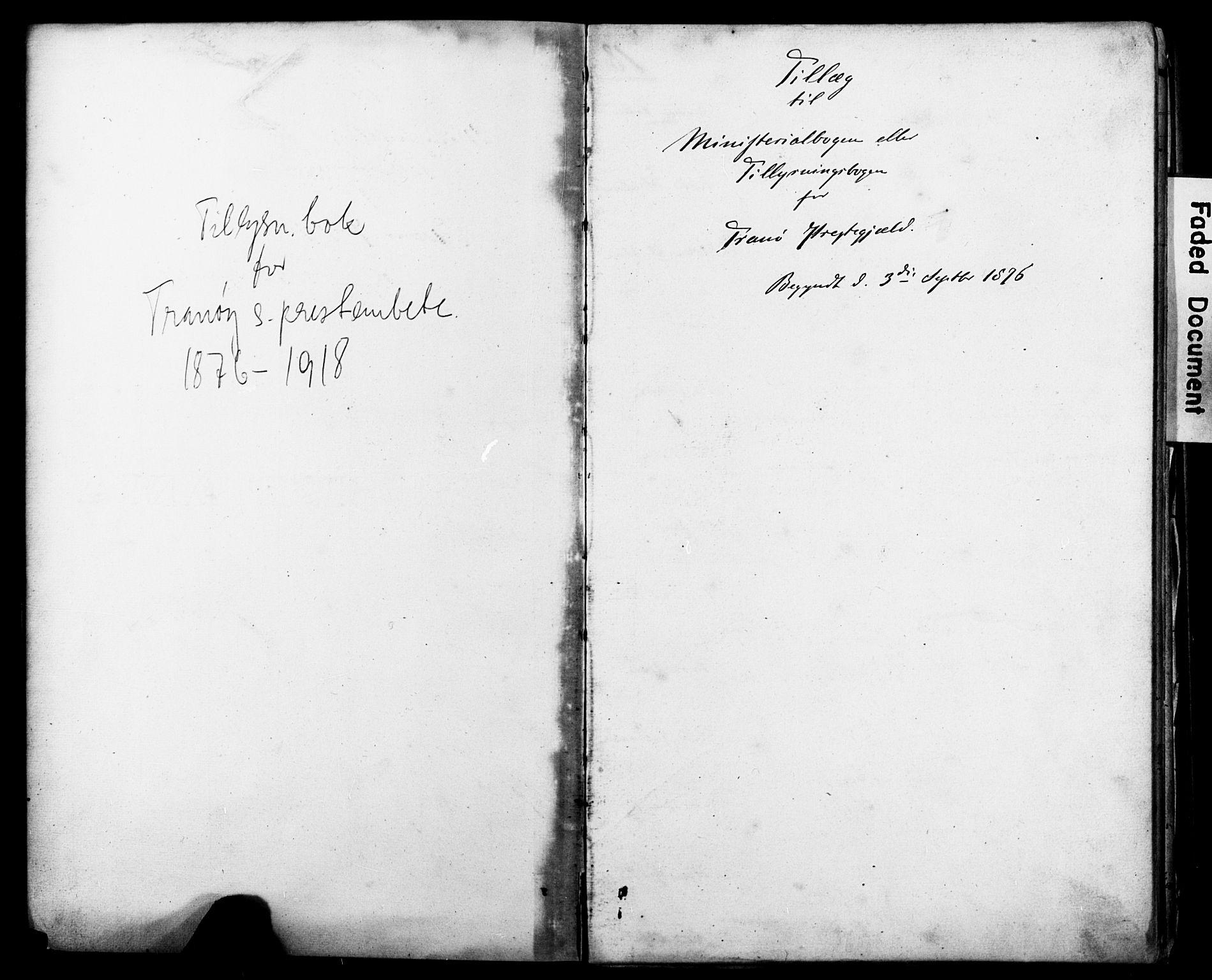 SATØ, Tranøy sokneprestkontor, J/Jc/L0052: Banns register no. 52, 1876-1918