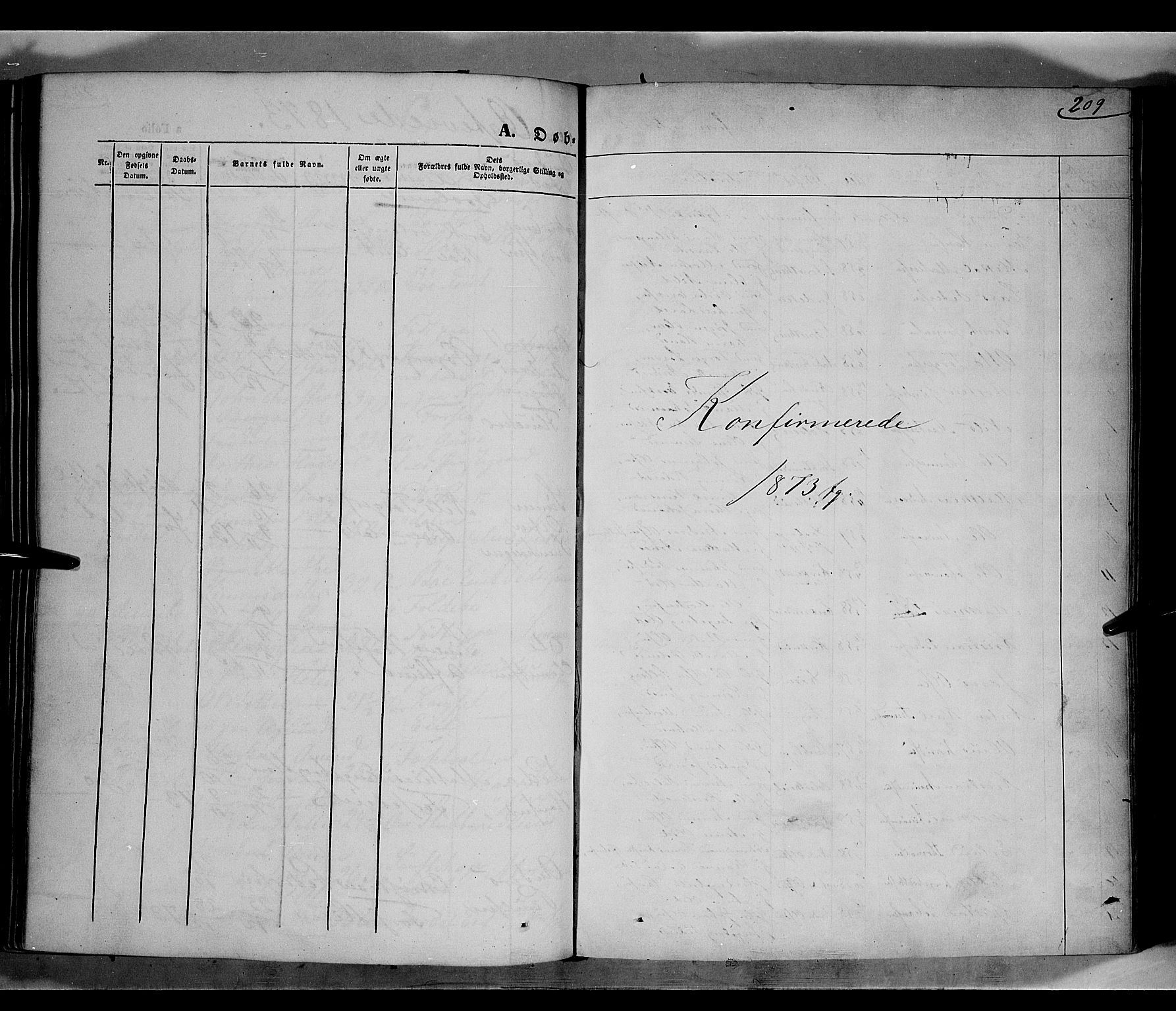 SAH, Gausdal prestekontor, Parish register (official) no. 9, 1862-1873, p. 209