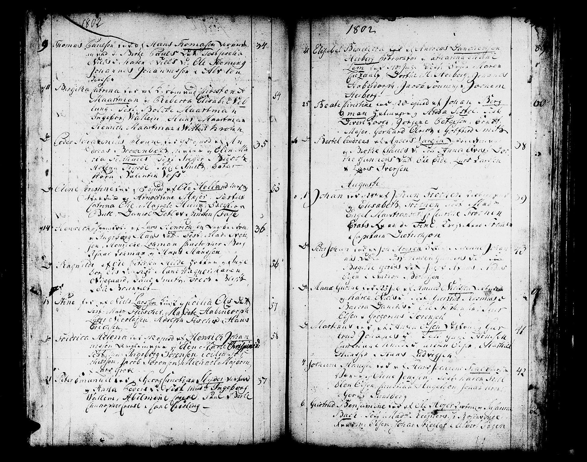 SAB, Domkirken sokneprestembete, H/Haa/L0004: Parish register (official) no. A 4, 1763-1820, p. 278-279