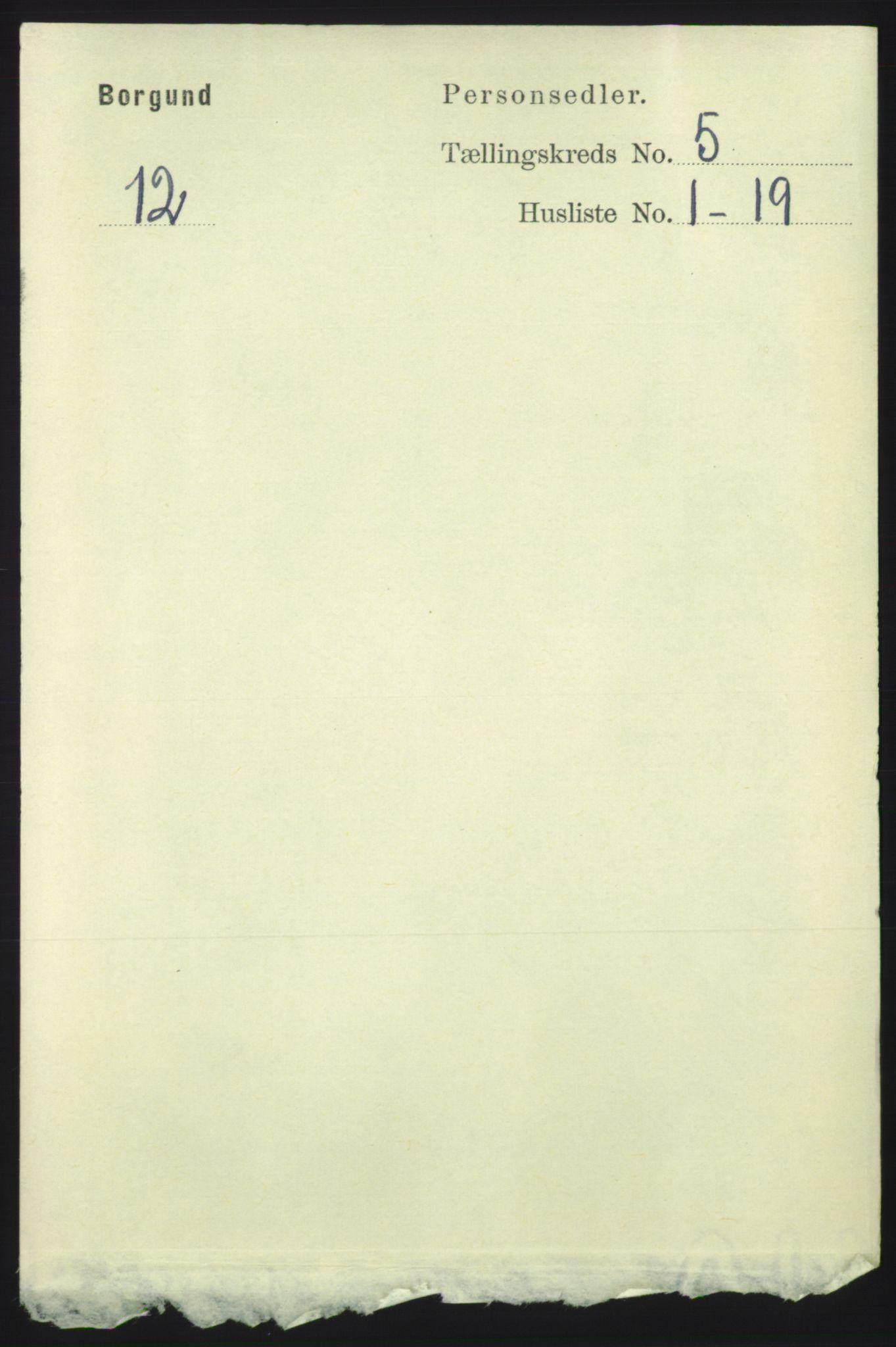 RA, 1891 census for 1531 Borgund, 1891, p. 1264