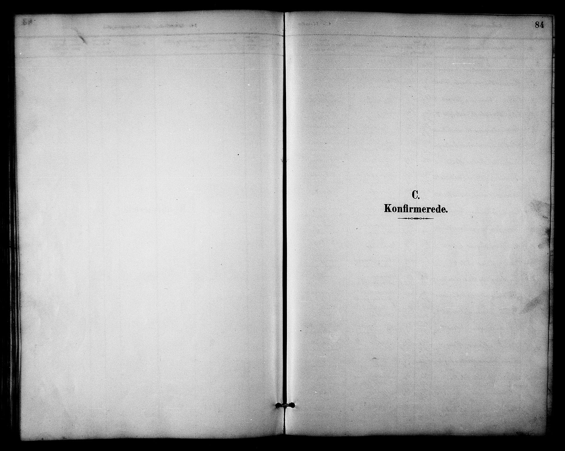 SATØ, Balsfjord sokneprestembete, Parish register (copy) no. 3, 1887-1909, p. 84