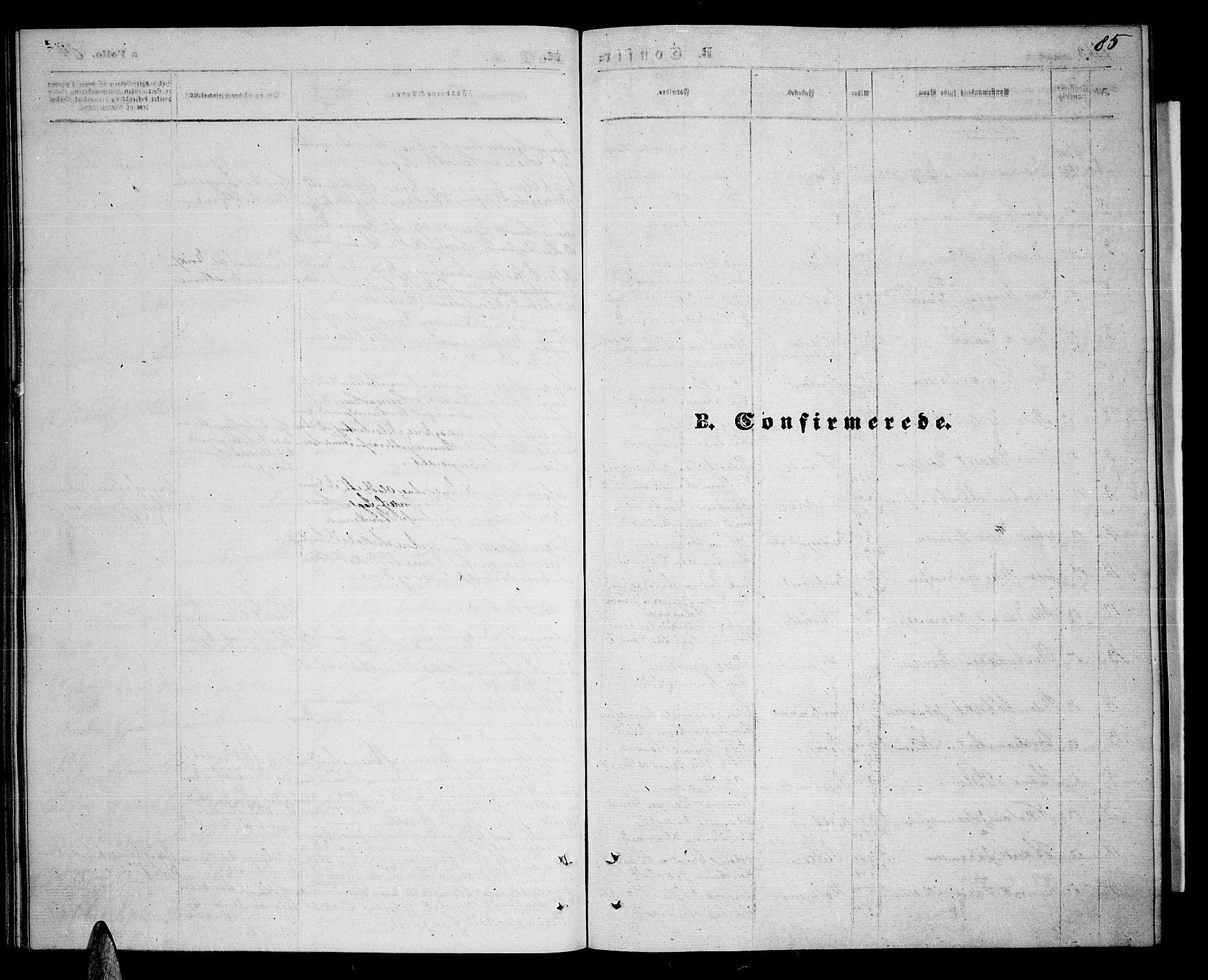 SATØ, Balsfjord sokneprestembete, Parish register (copy) no. 6, 1863-1878, p. 85