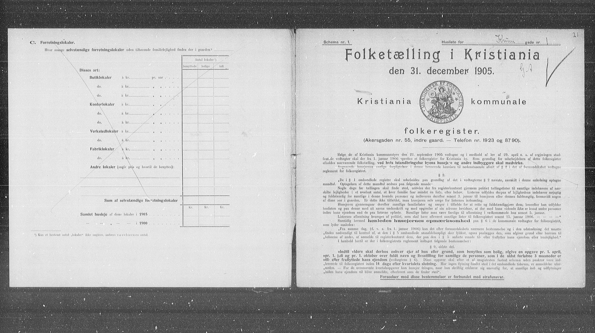 OBA, Municipal Census 1905 for Kristiania, 1905, p. 28930