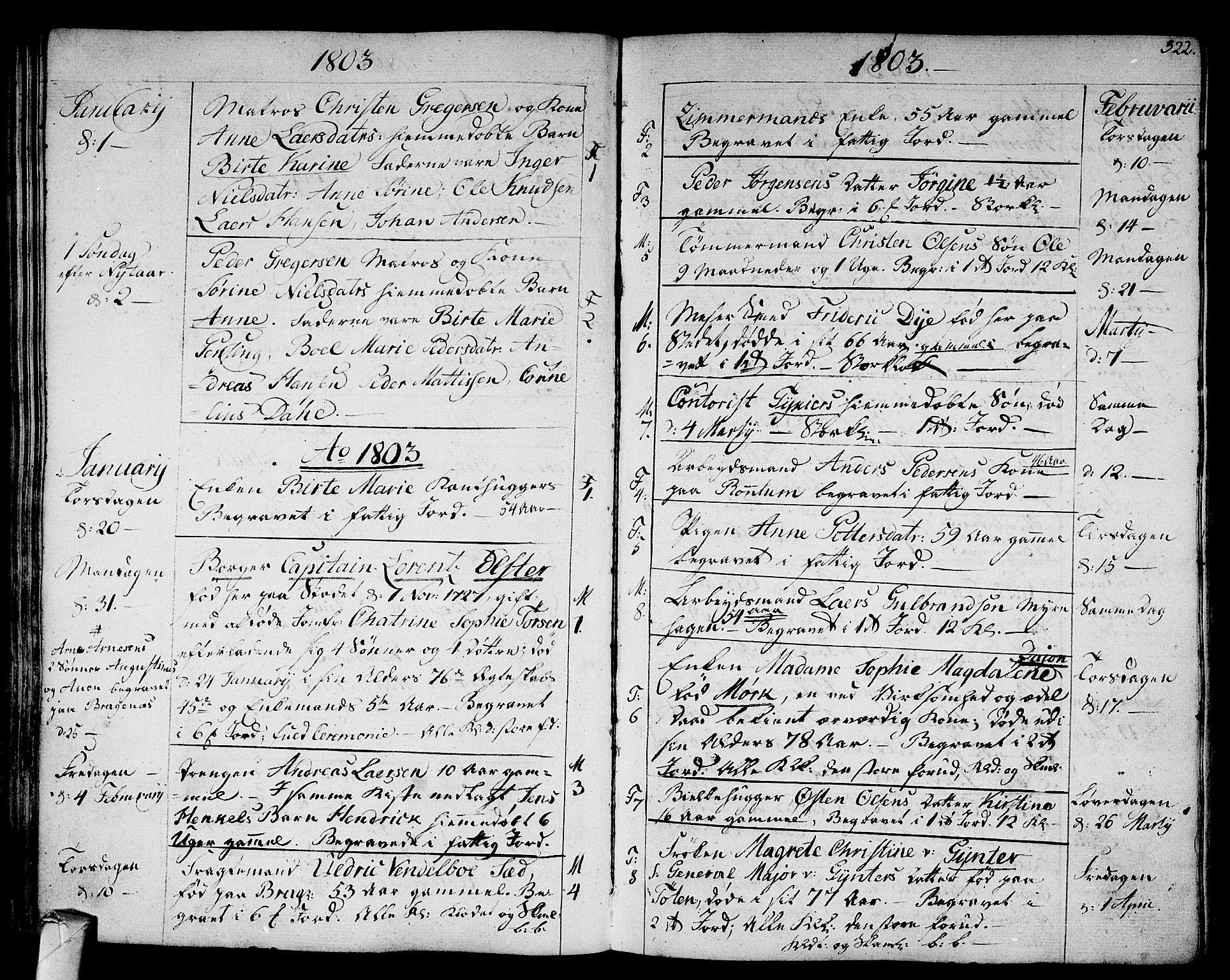 SAKO, Strømsø kirkebøker, F/Fa/L0010: Parish register (official) no. I 10, 1792-1822, p. 322