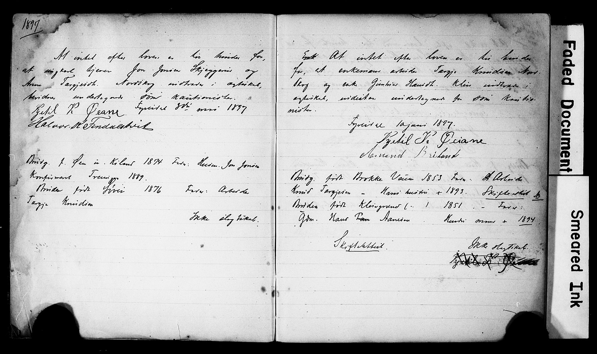 SAKO, Fyresdal kirkebøker, H/Hb/L0002: Best man's statements no. 2, 1897-1918