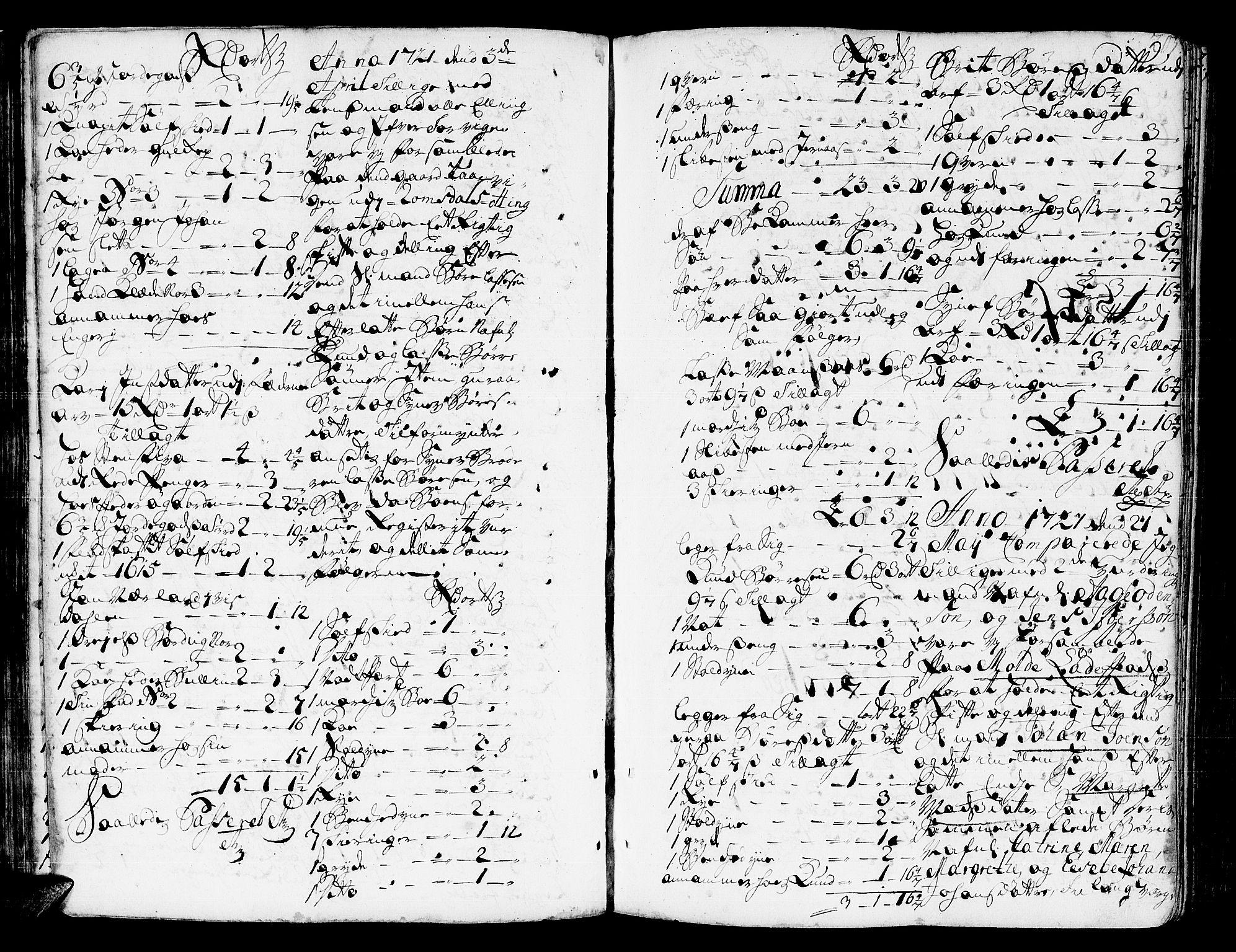 SAT, Romsdal sorenskriveri, 3/3A/L0006: Skifteprotokoll, 1718-1730, p. 204b-205a