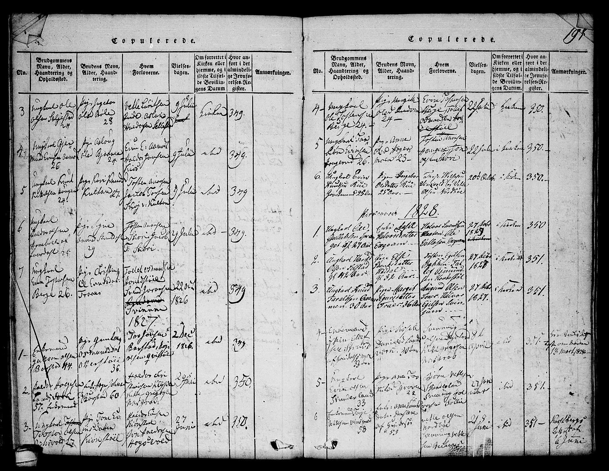SAKO, Seljord kirkebøker, F/Fc/L0001: Parish register (official) no. III 1, 1815-1831, p. 197