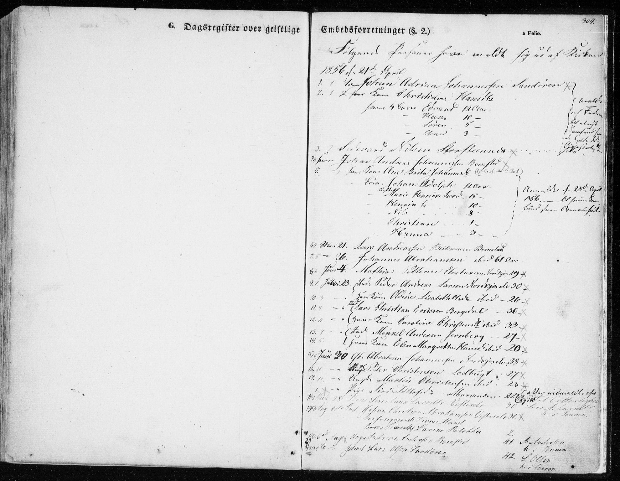 SATØ, Balsfjord sokneprestembete, Parish register (official) no. 3, 1856-1870, p. 304