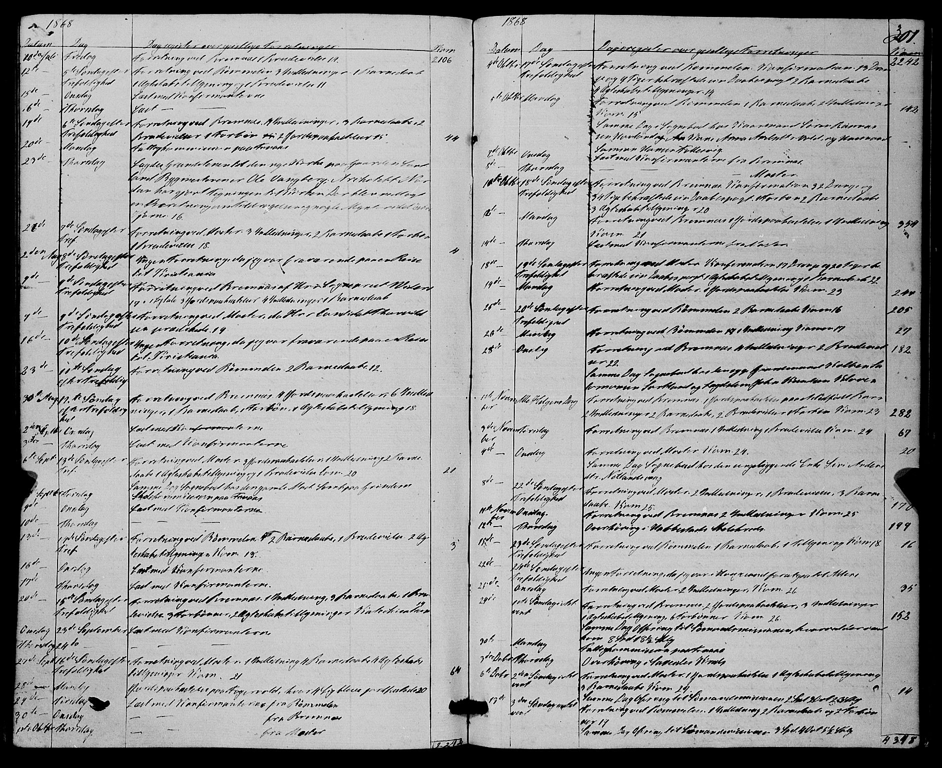 SAB, Finnås sokneprestembete, H/Ha/Haa/Haaa/L0008: Parish register (official) no. A 8, 1863-1872, p. 301