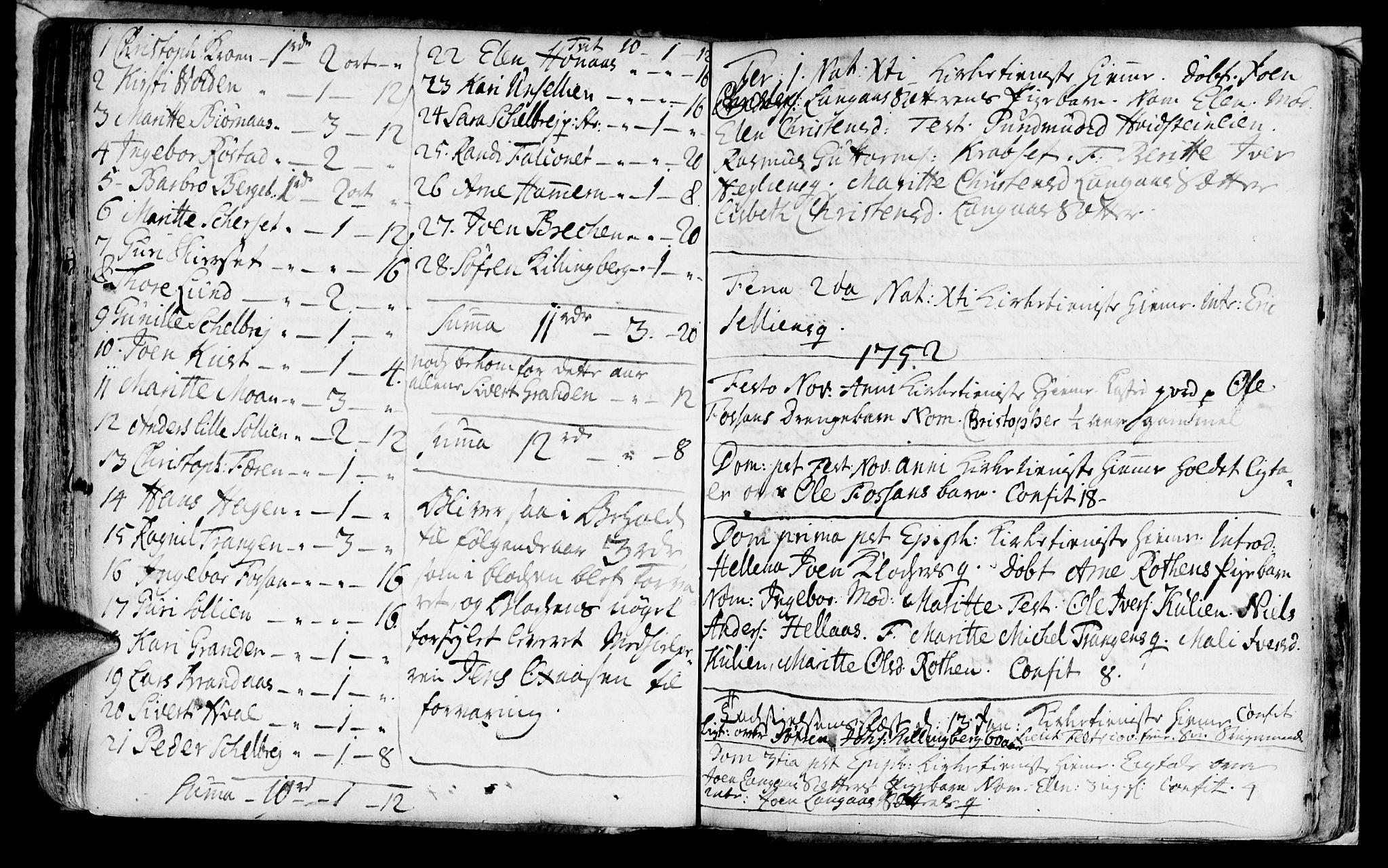 SAT, Ministerialprotokoller, klokkerbøker og fødselsregistre - Nord-Trøndelag, 701/L0002: Parish register (official) no. 701A02 /1, 1738-1752