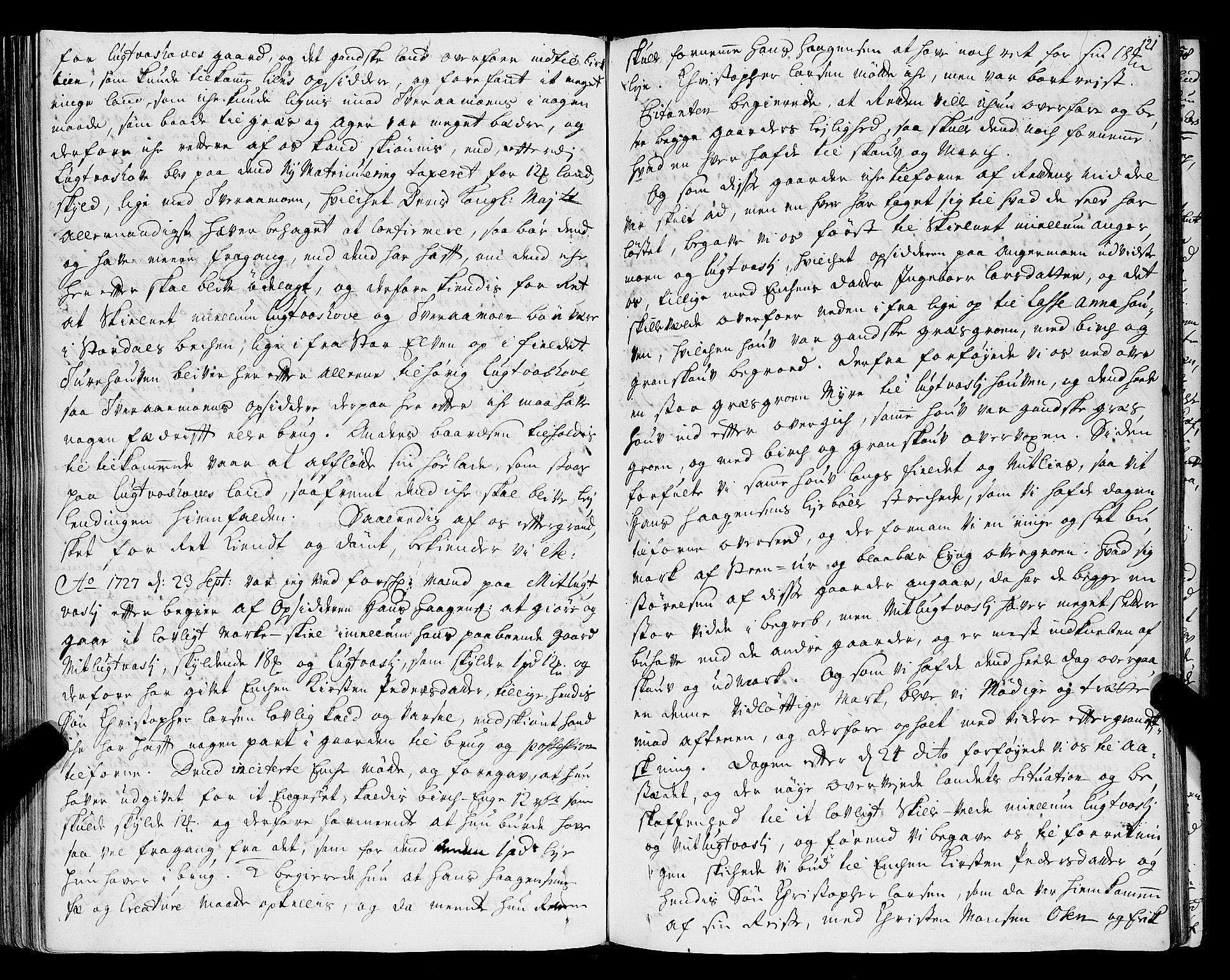 SAT, Helgeland sorenskriveri, 1/1A/L0007: Tingbok 8, 1726-1730, p. 120b-121a