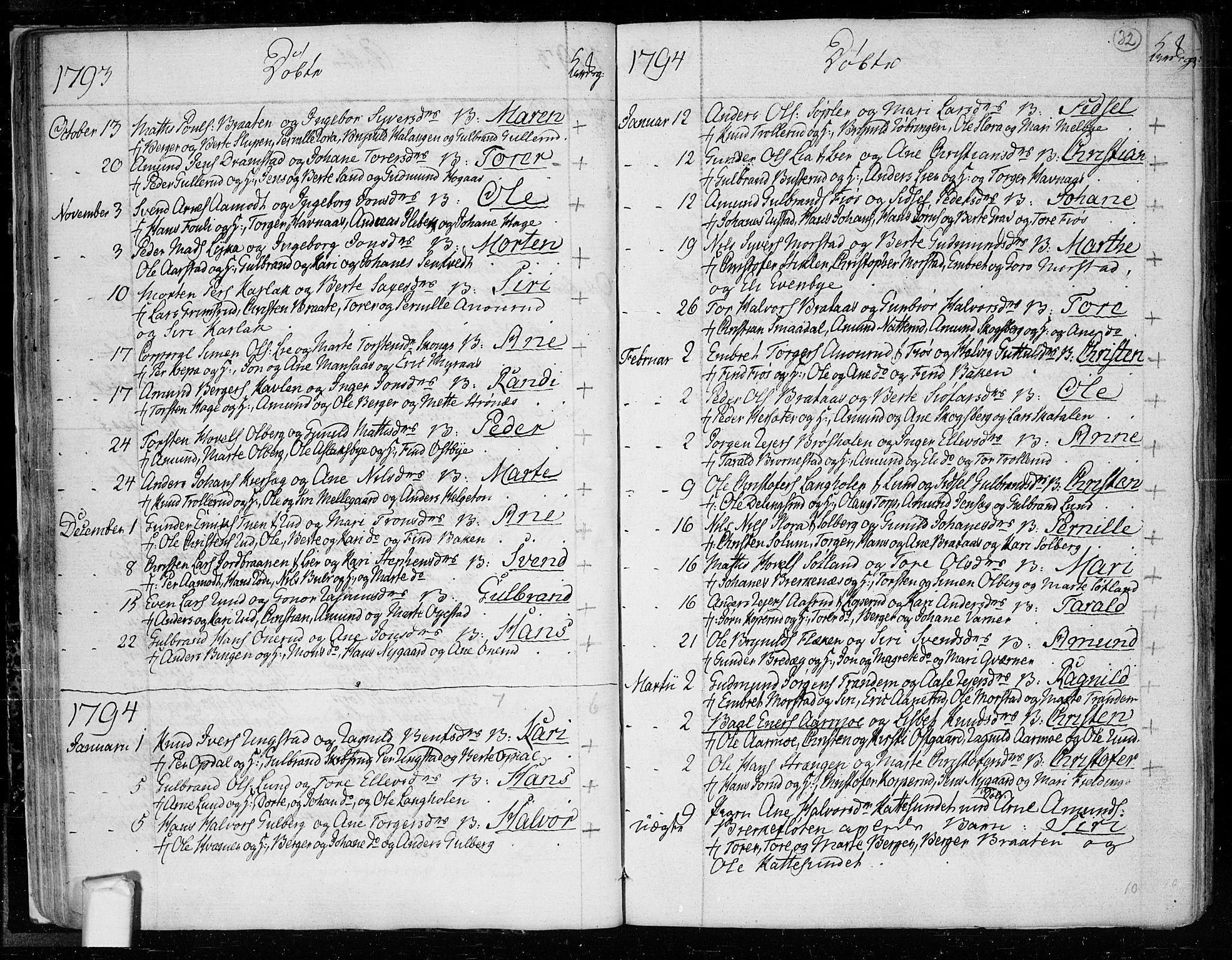 SAO, Trøgstad prestekontor Kirkebøker, F/Fa/L0005: Parish register (official) no. I 5, 1784-1814, p. 32