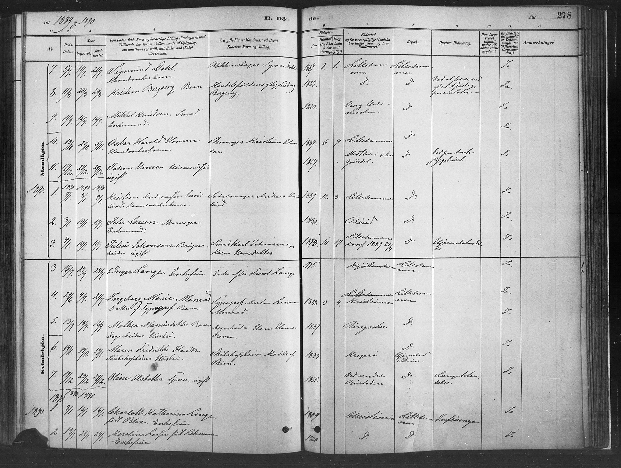 SAH, Fåberg prestekontor, H/Ha/Haa/L0010: Parish register (official) no. 10, 1879-1900, p. 278