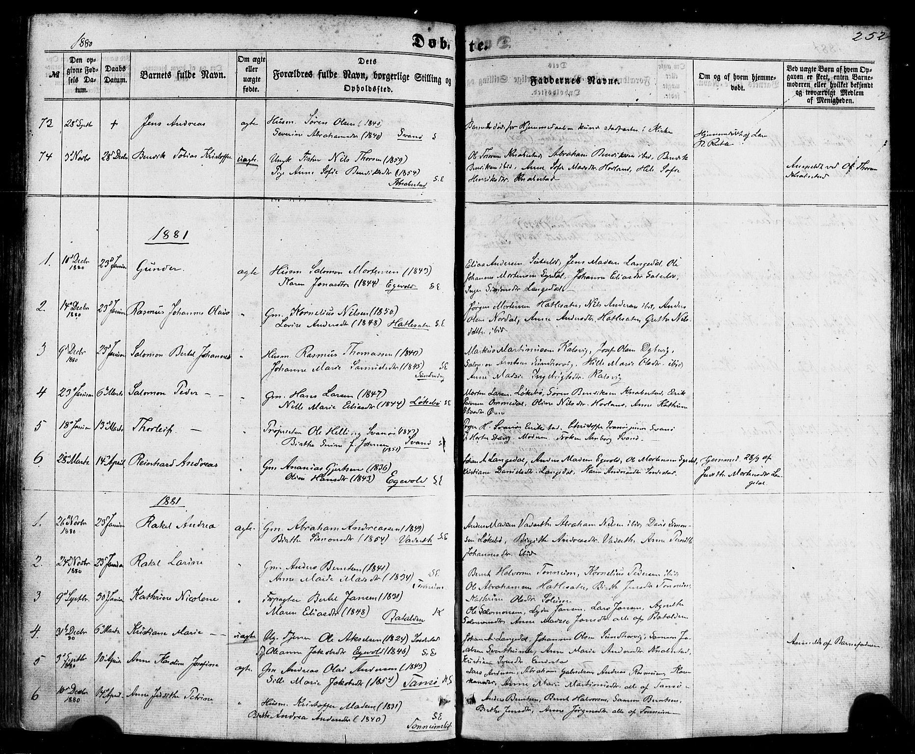 SAB, Kinn sokneprestembete, H/Haa/Haaa/L0006: Parish register (official) no. A 6, 1857-1885, p. 252