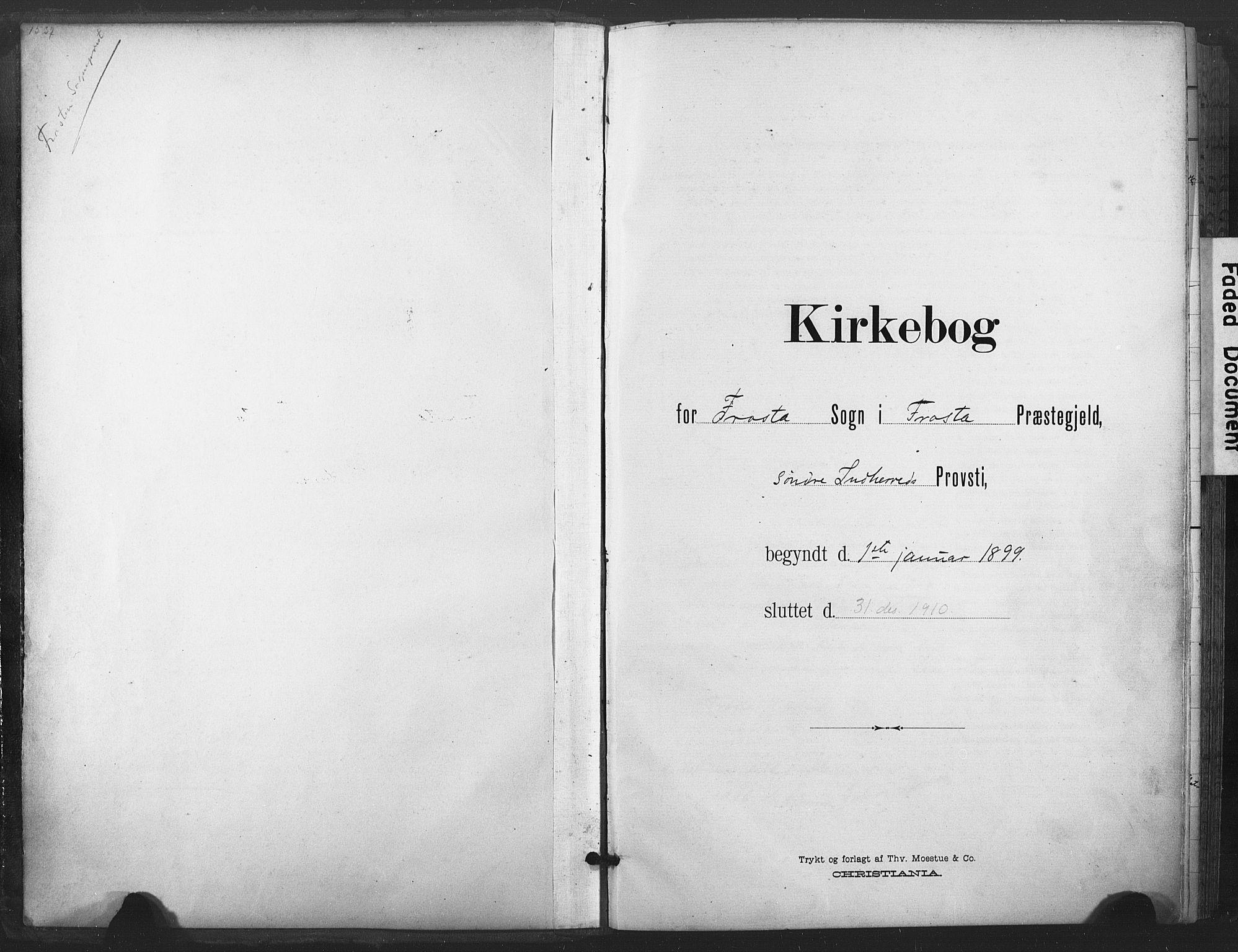 SAT, Ministerialprotokoller, klokkerbøker og fødselsregistre - Nord-Trøndelag, 713/L0122: Parish register (official) no. 713A11, 1899-1910
