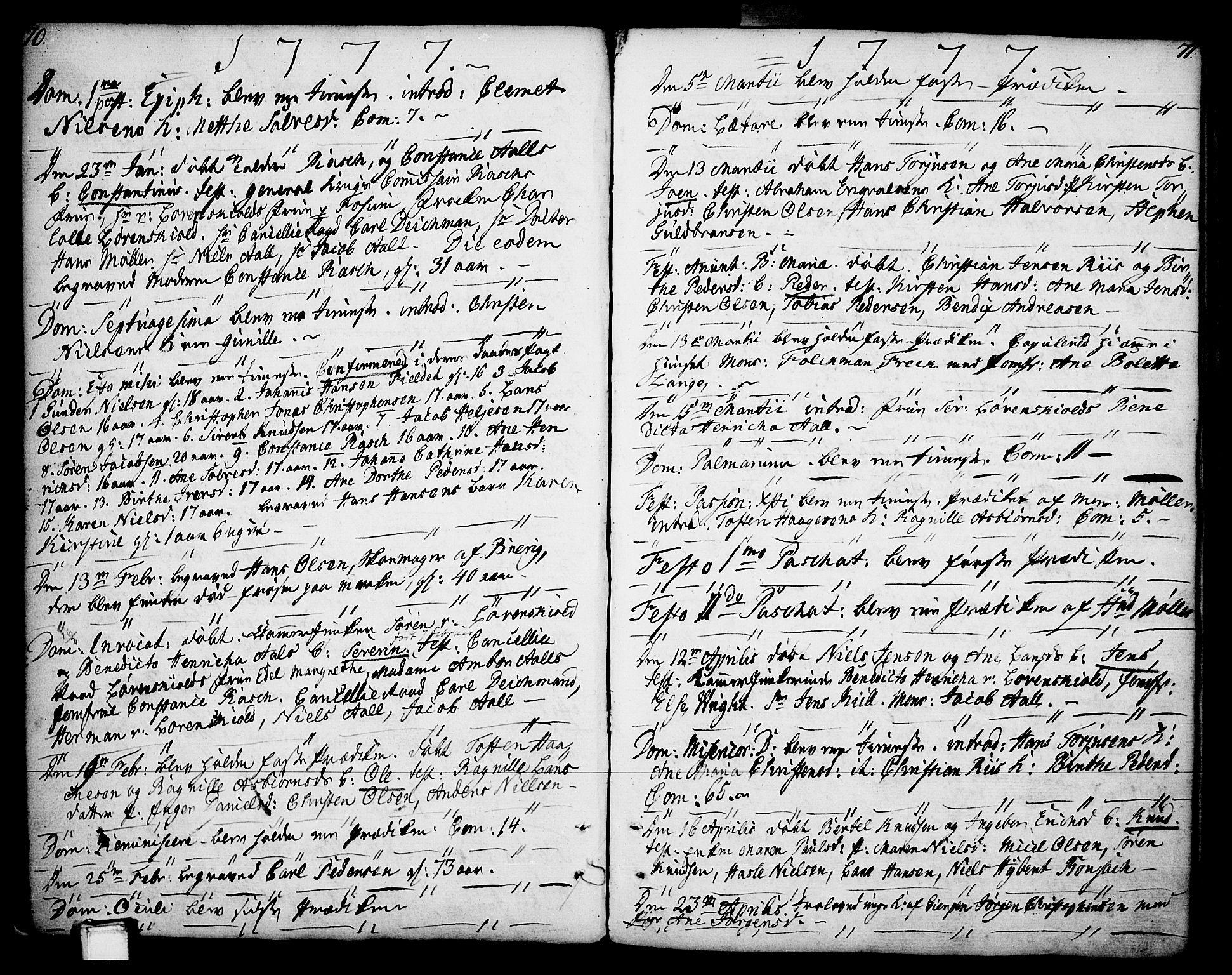 SAKO, Porsgrunn kirkebøker , F/Fa/L0002: Parish register (official) no. 2, 1764-1814, p. 70-71