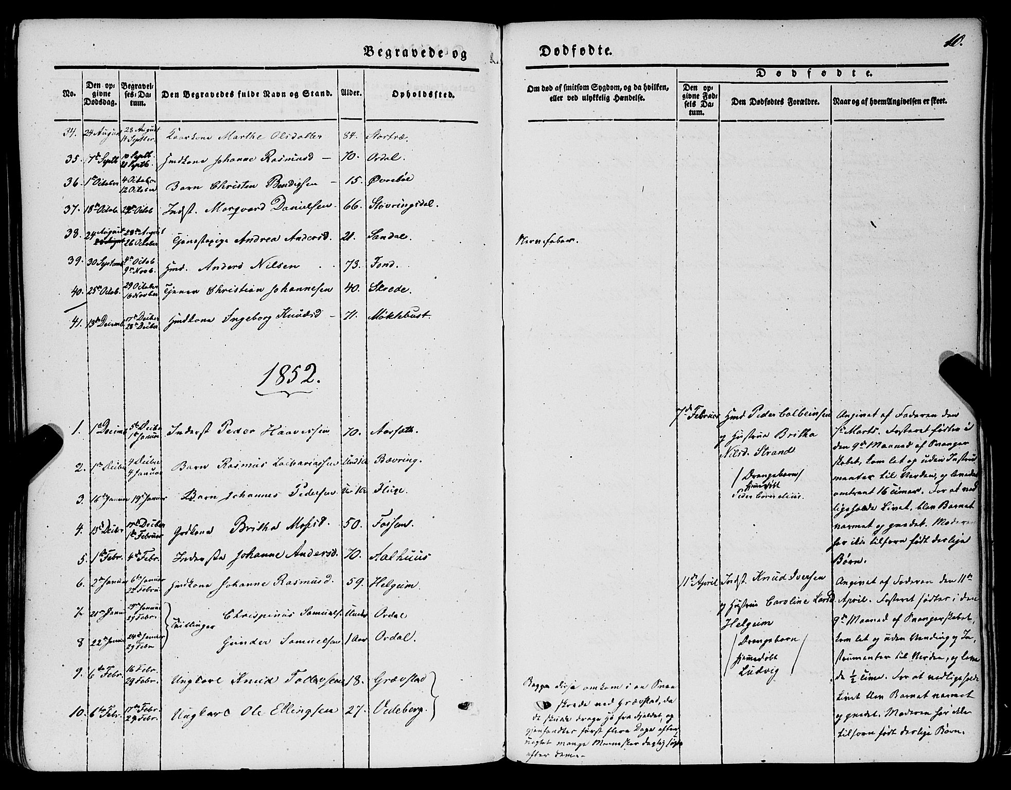 SAB, Jølster sokneprestembete, H/Haa/Haaa/L0010: Parish register (official) no. A 10, 1847-1865, p. 10