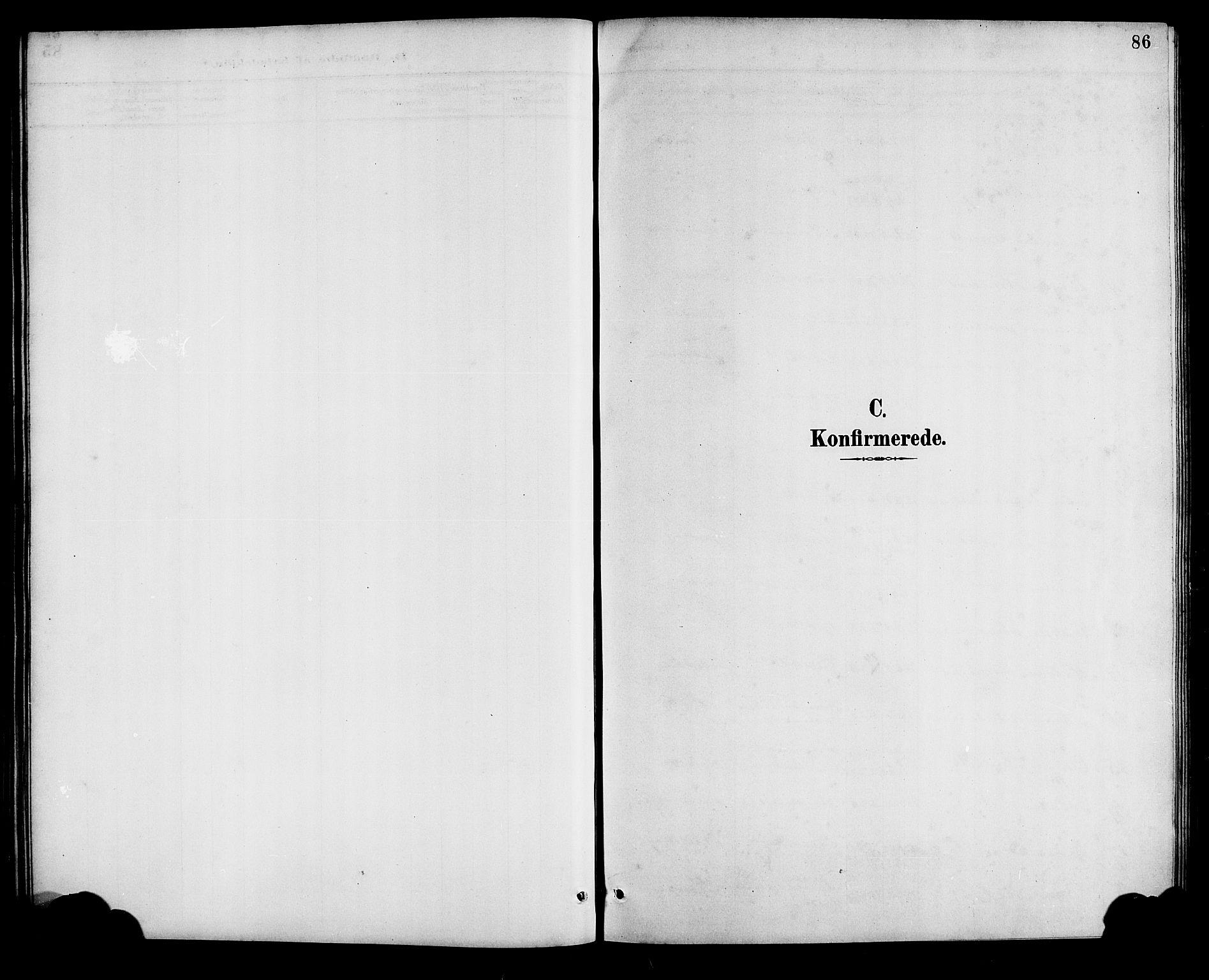 SAB, Bremanger Sokneprestembete, H/Hab: Parish register (copy) no. A 3, 1890-1908, p. 86