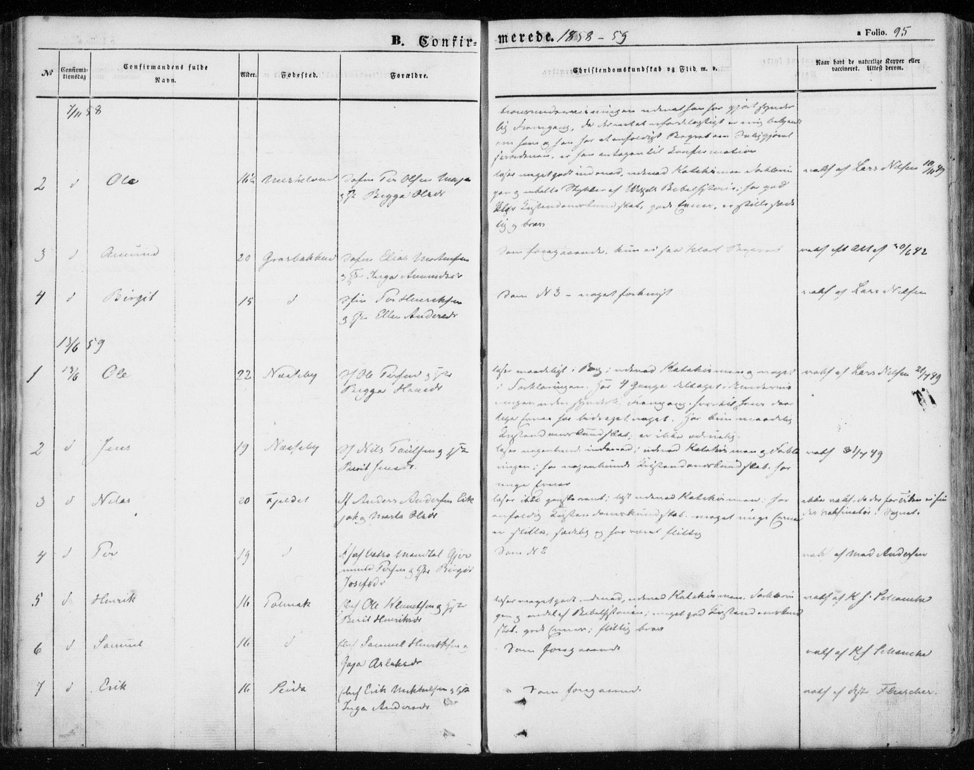 SATØ, Nesseby sokneprestkontor, H/Ha/L0002kirke: Parish register (official) no. 2, 1856-1864, p. 95