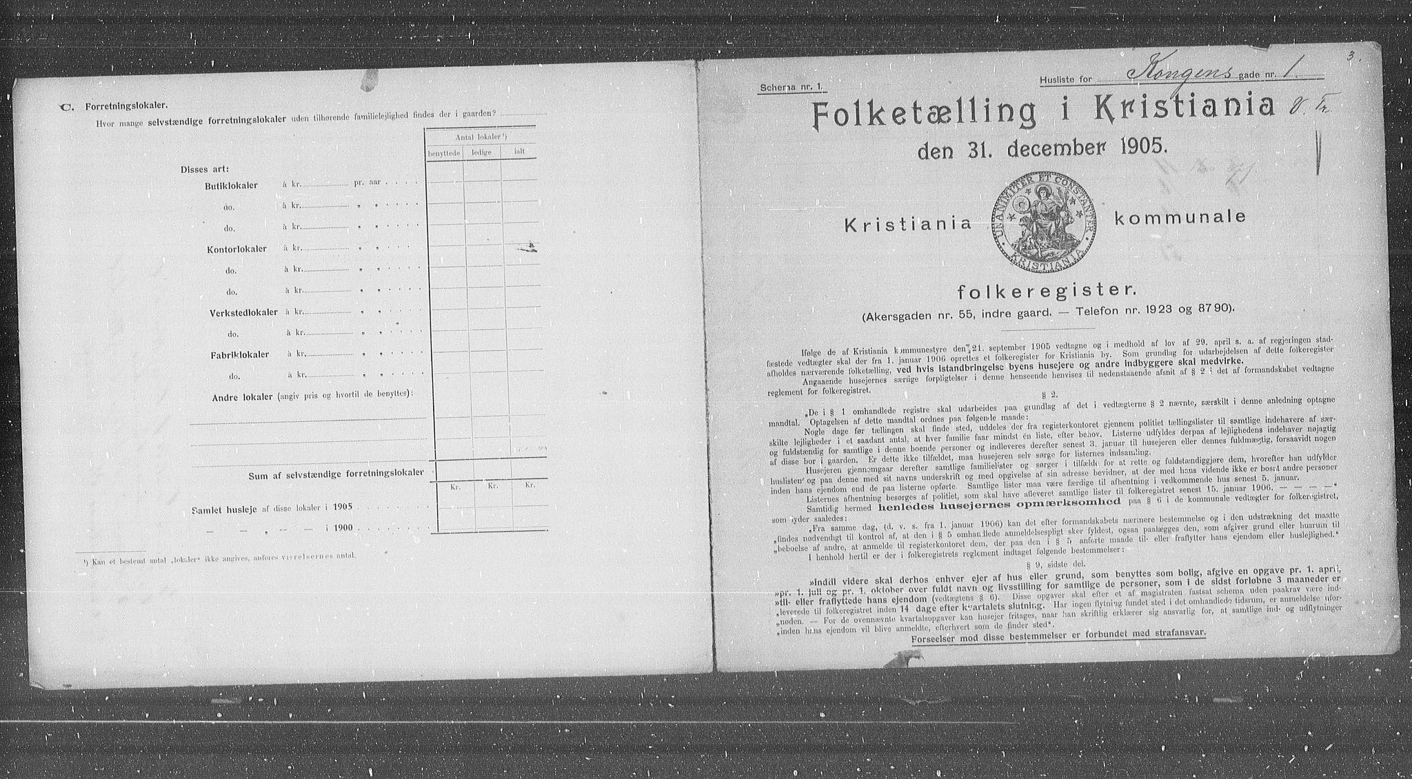 OBA, Municipal Census 1905 for Kristiania, 1905, p. 27610