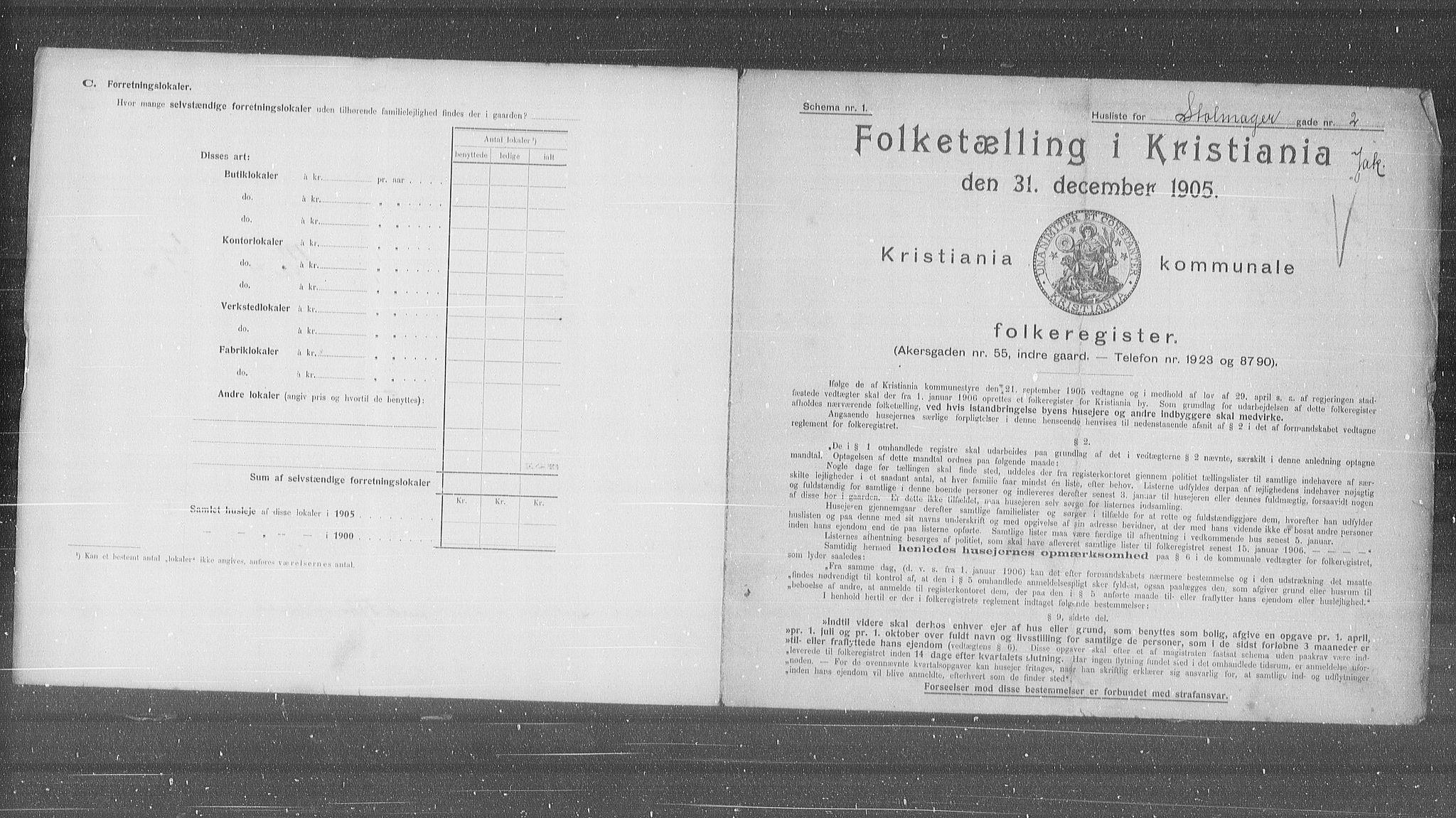 OBA, Municipal Census 1905 for Kristiania, 1905, p. 53625